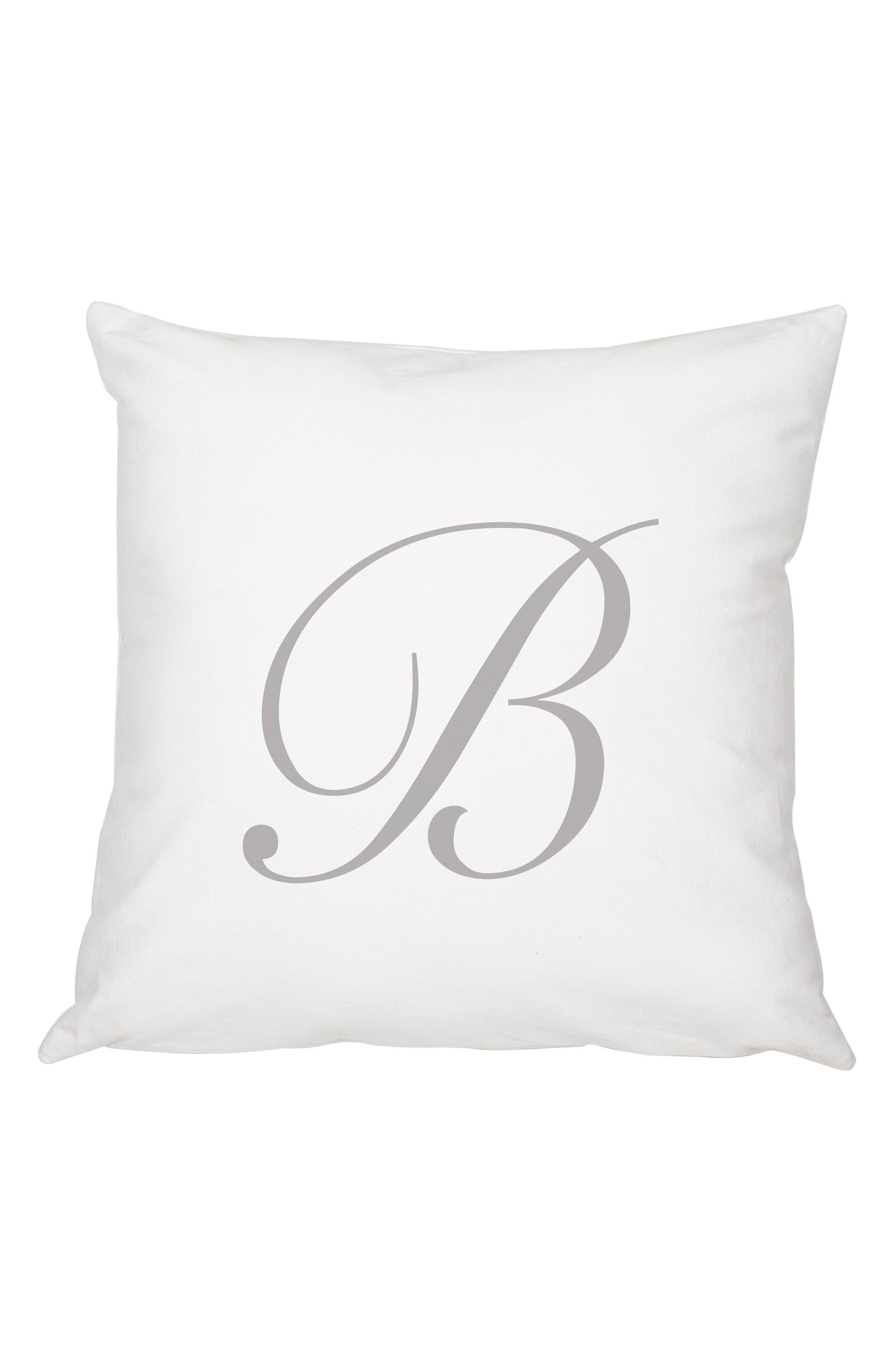 Script Monogram Accent Pillow,                             Main thumbnail 2, color,