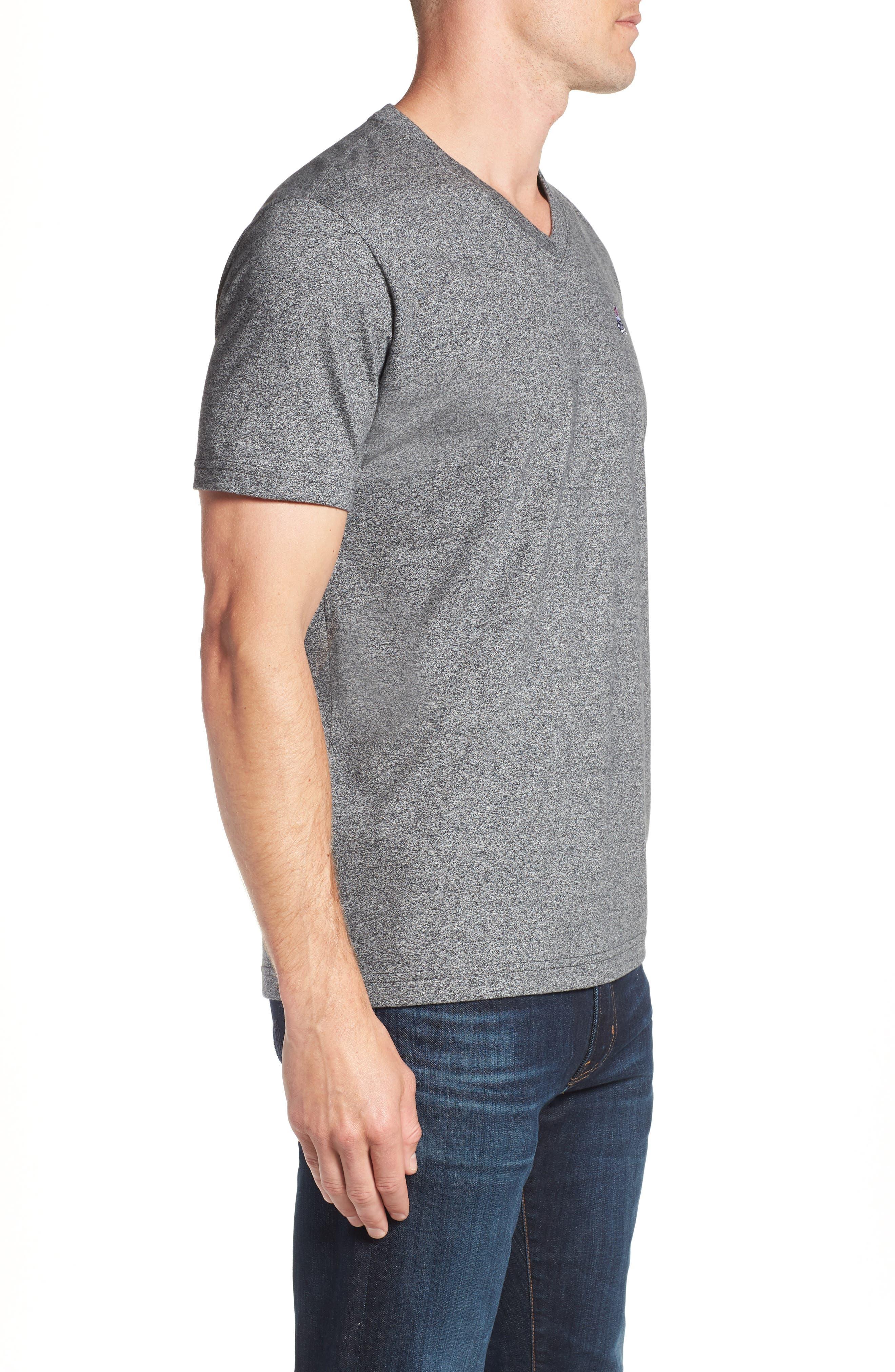 V-Neck T-Shirt,                             Alternate thumbnail 3, color,                             GREY SALT PEPPER