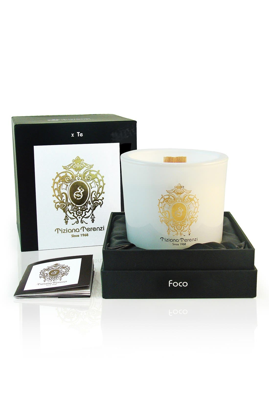 'White Fire' Two-Wick Foco Candle,                             Alternate thumbnail 4, color,                             000