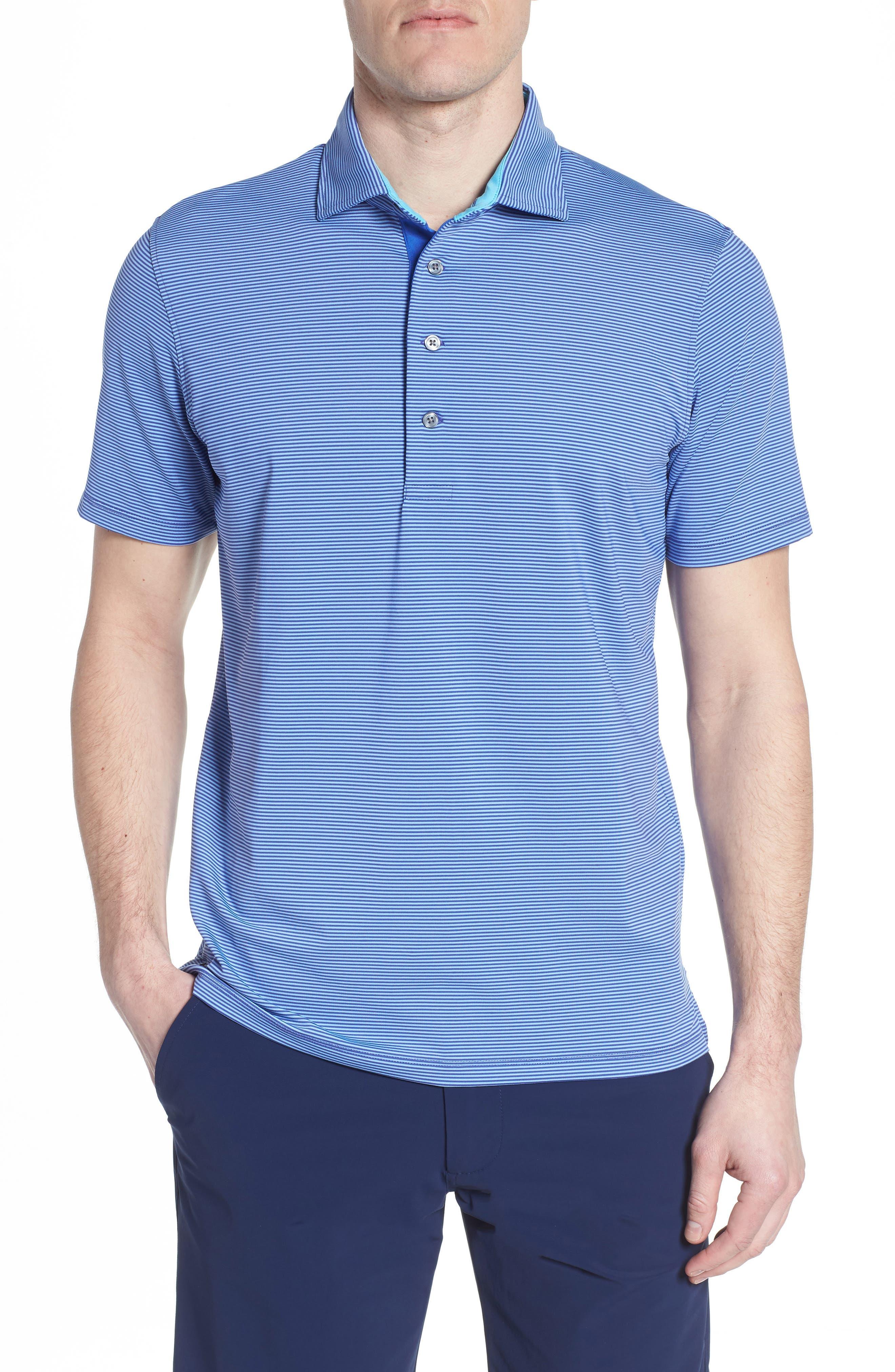 Saranac Jersey Polo,                         Main,                         color, TWILIGHT/ ICE
