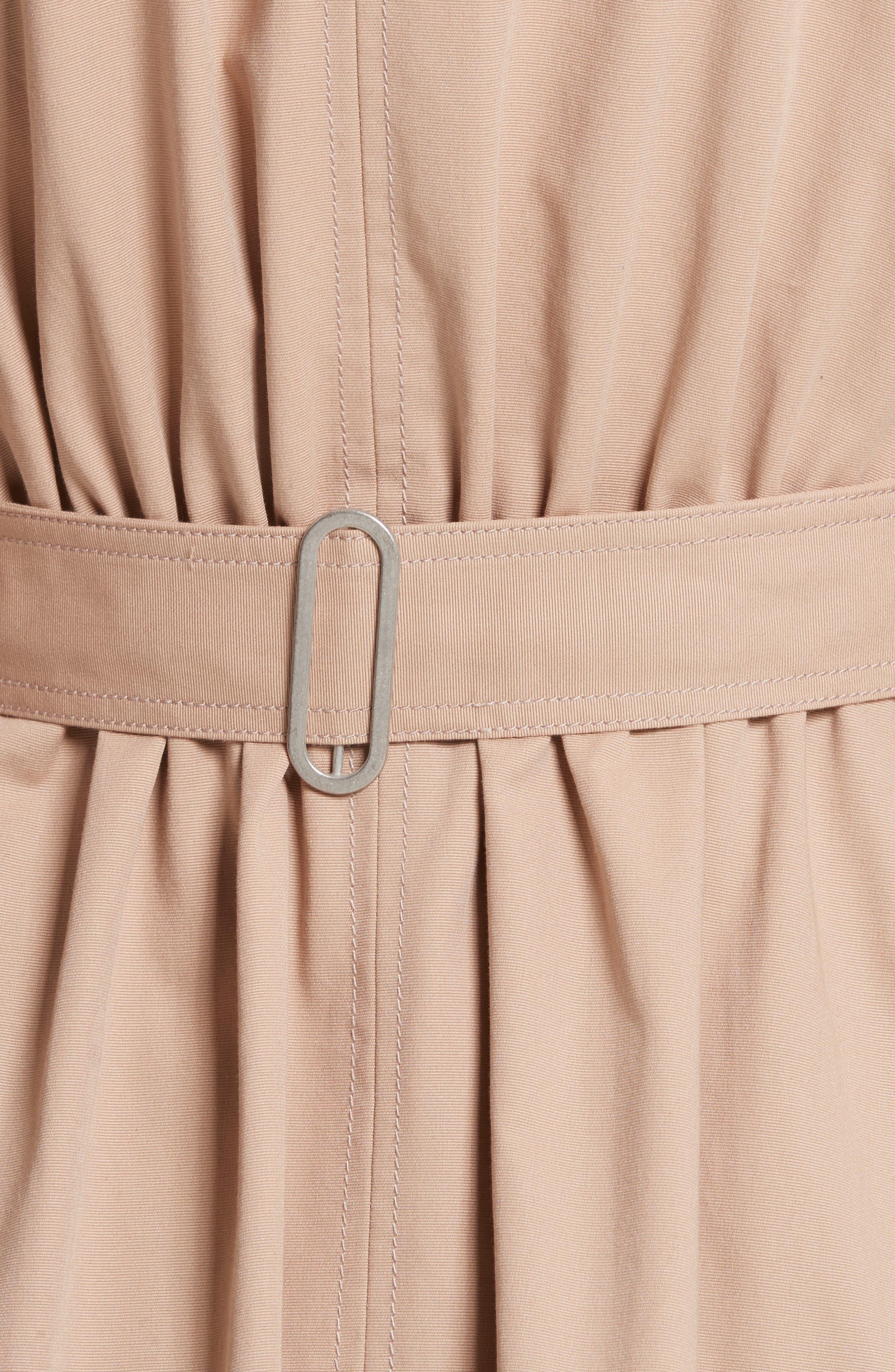 Ruffle Trim Trench Coat,                             Alternate thumbnail 6, color,                             285