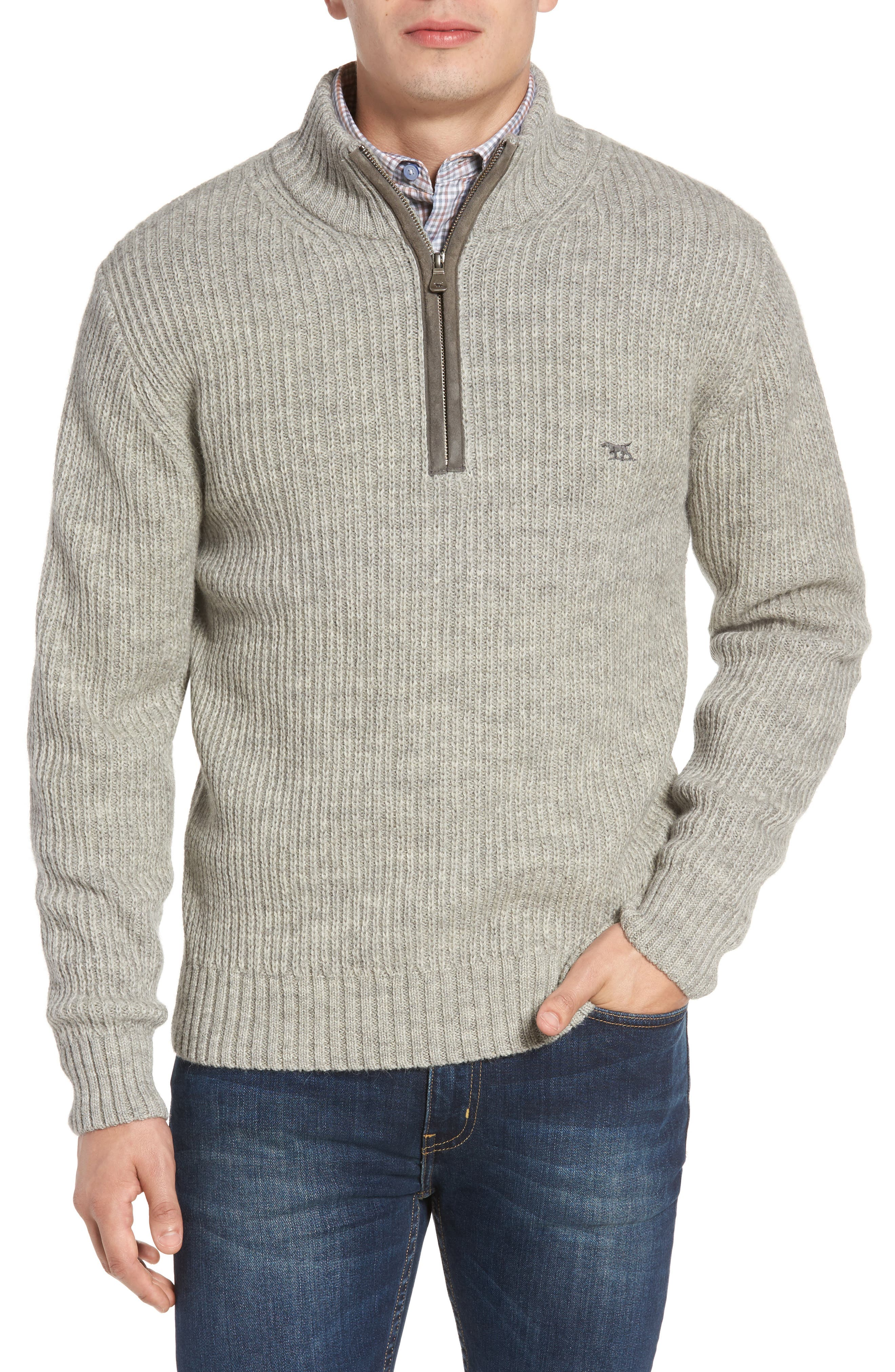 'Huka Lodge' Merino Wool Blend Quarter Zip Sweater,                             Main thumbnail 1, color,                             268
