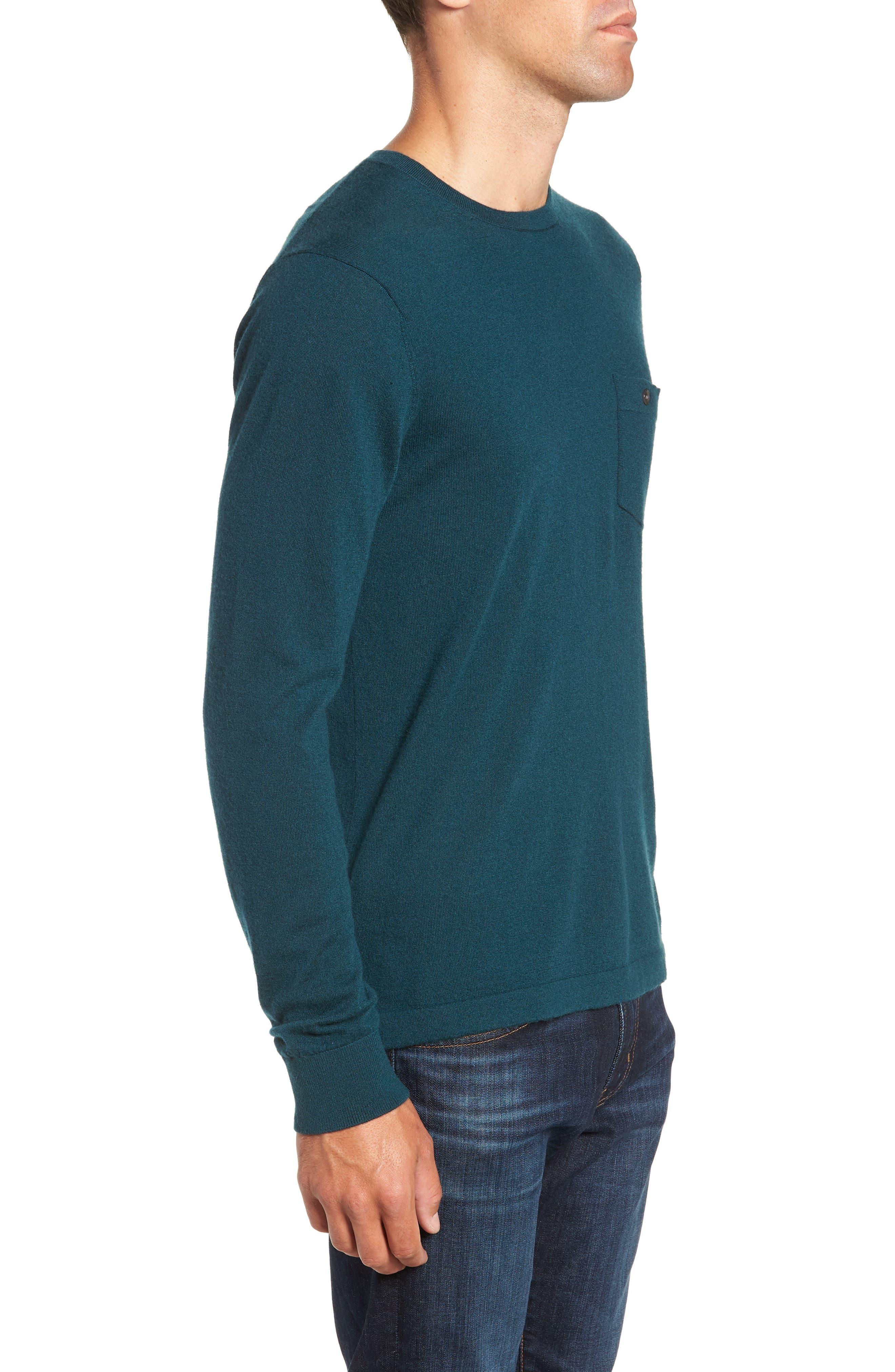 Cashmere Sweater,                             Alternate thumbnail 3, color,                             PETROL