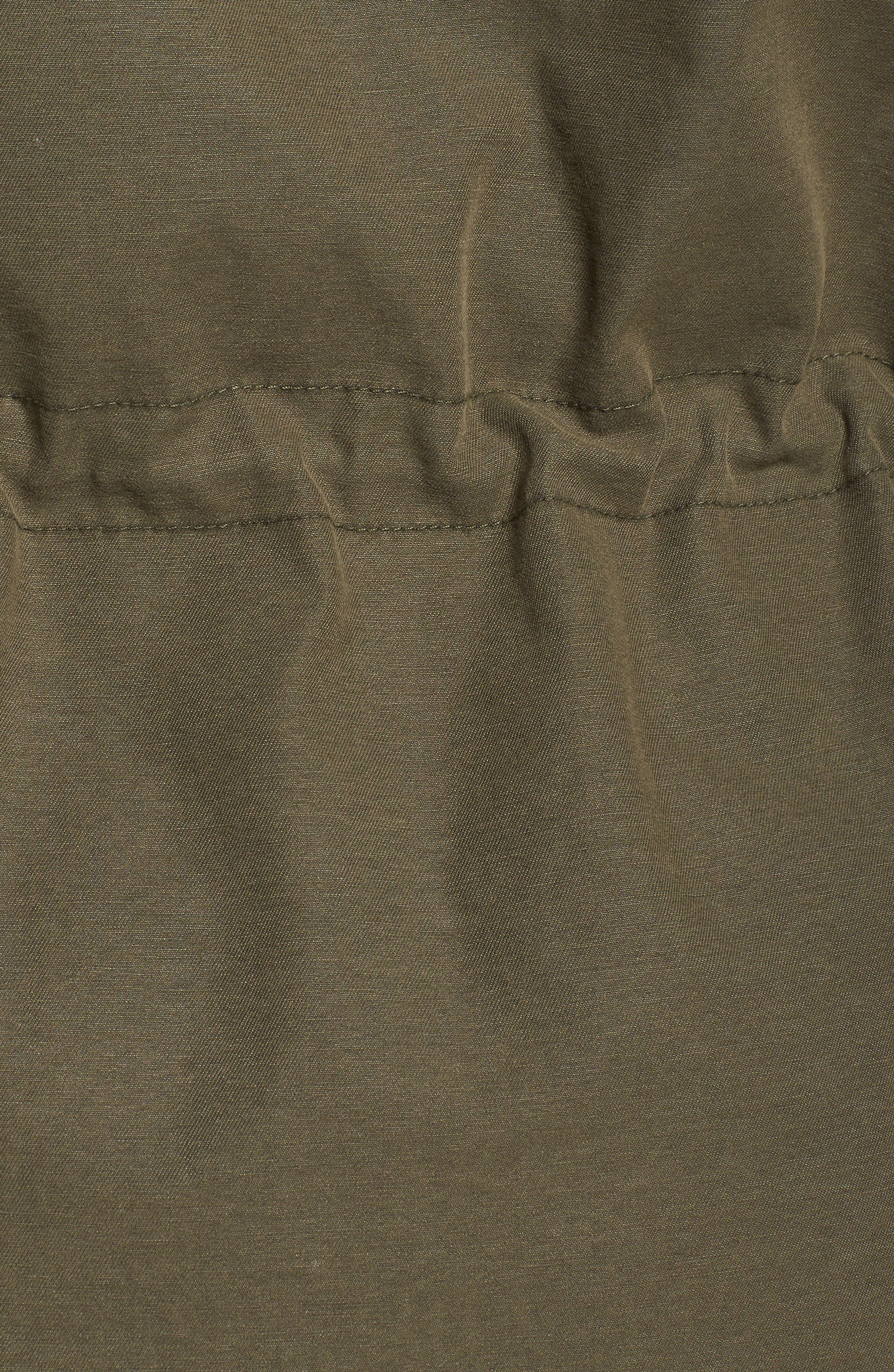 Hooded Cotton Utility Jacket,                             Alternate thumbnail 18, color,