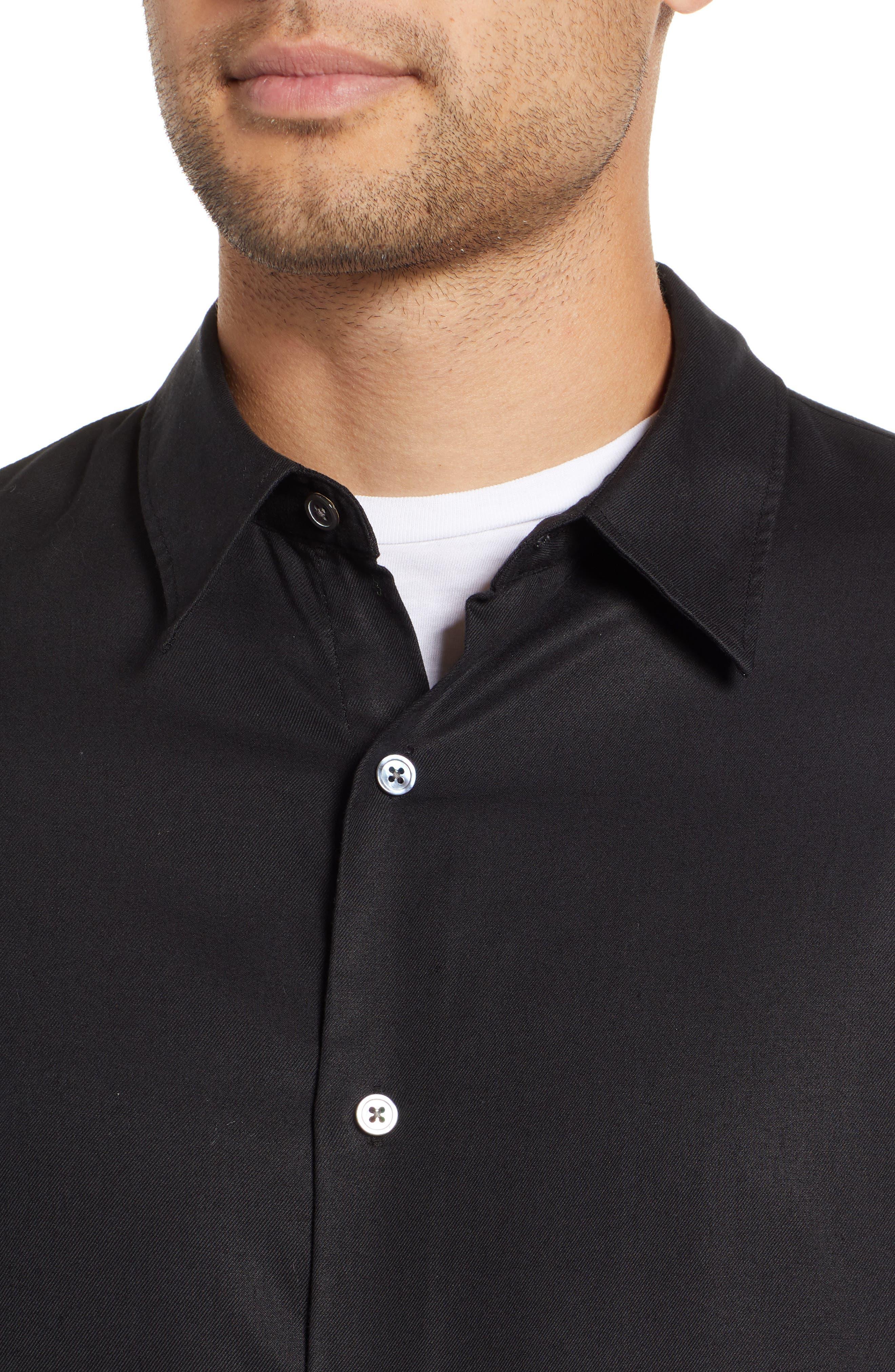 Air Clean Regular Fit Sport Shirt,                             Alternate thumbnail 2, color,                             BLACK