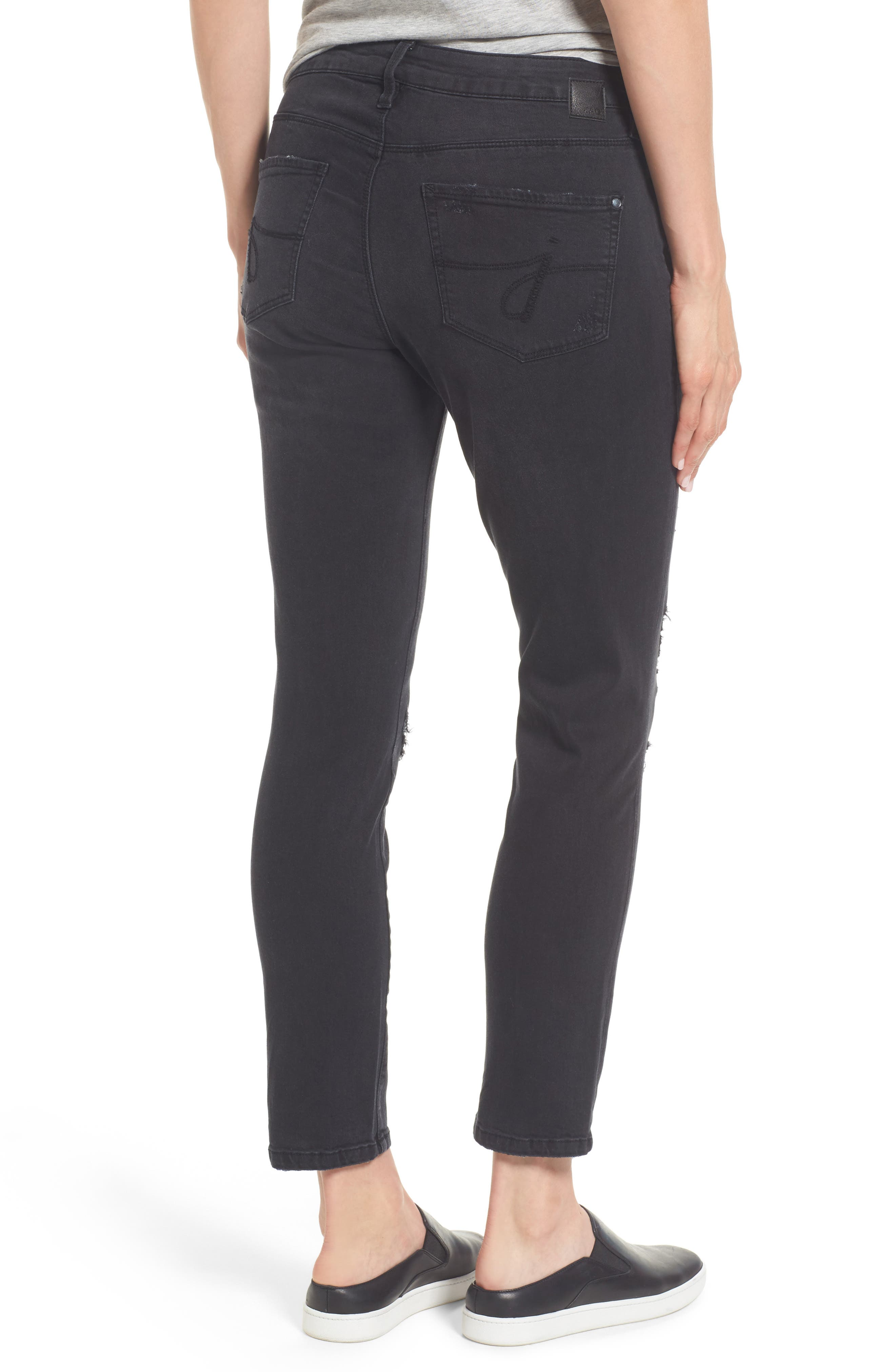 Mera Distressed Skinny Ankle Jeans,                             Alternate thumbnail 2, color,