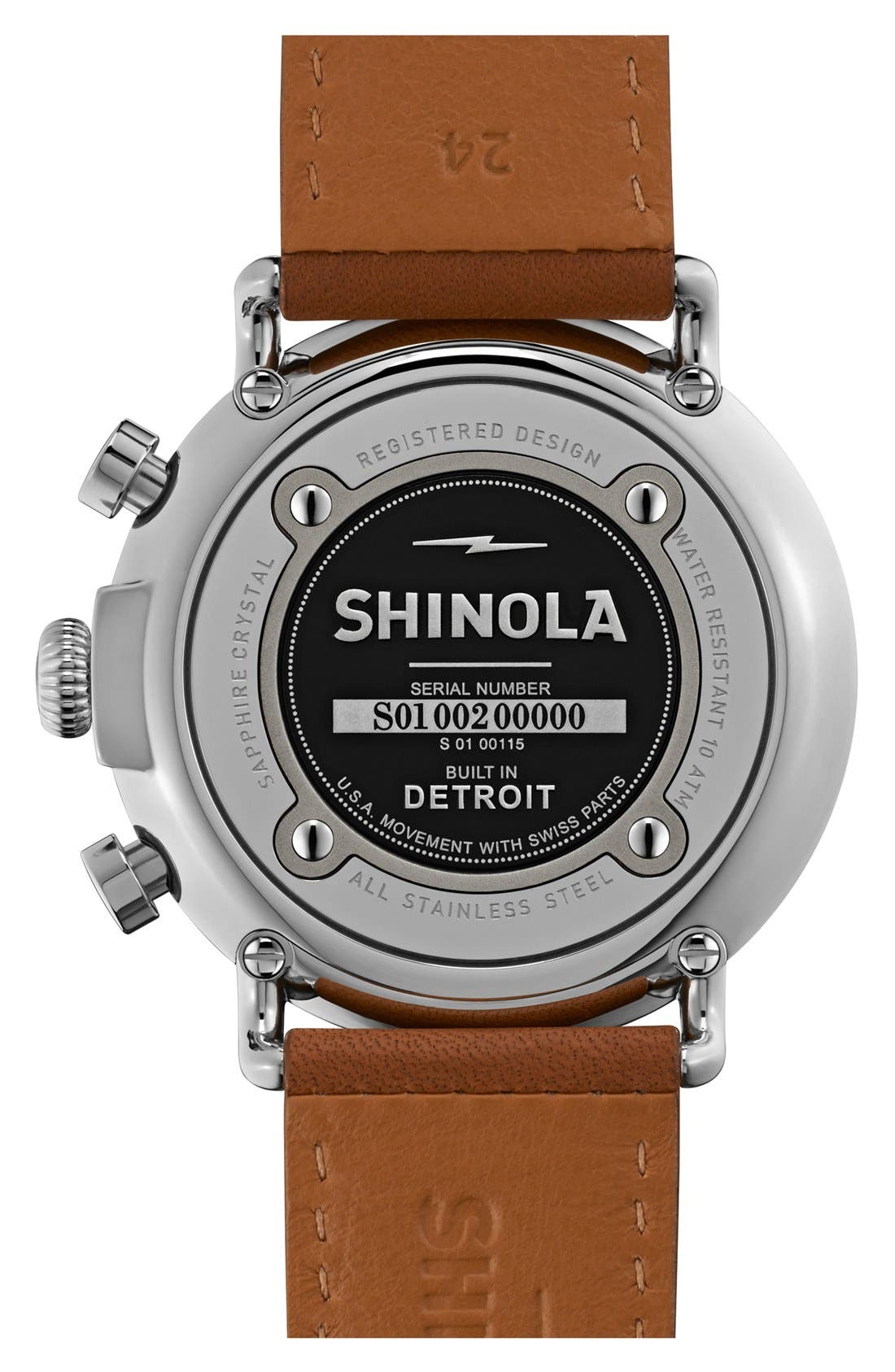 The Runwell Chrono Leather Strap Watch, 47mm,                             Alternate thumbnail 39, color,