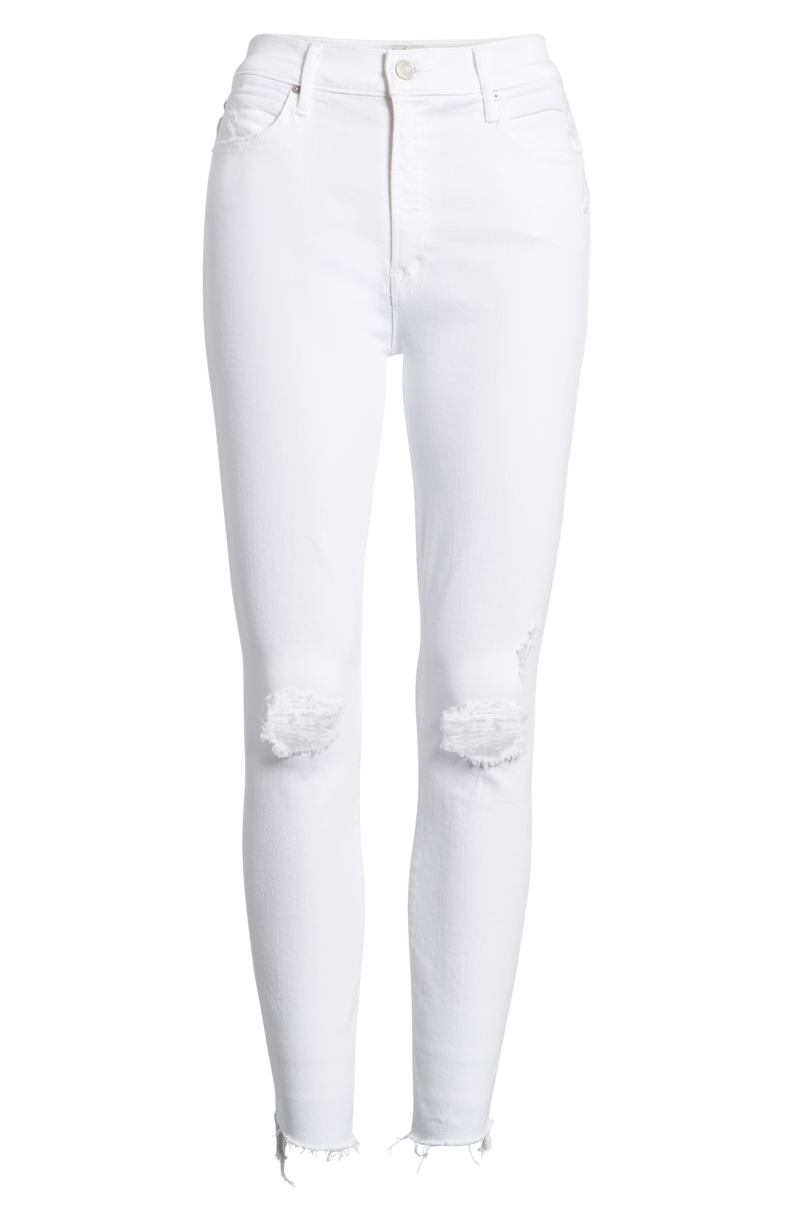 The Stunner High Waist Fray Ankle Skinny Jeans,                             Alternate thumbnail 7, color,                             111