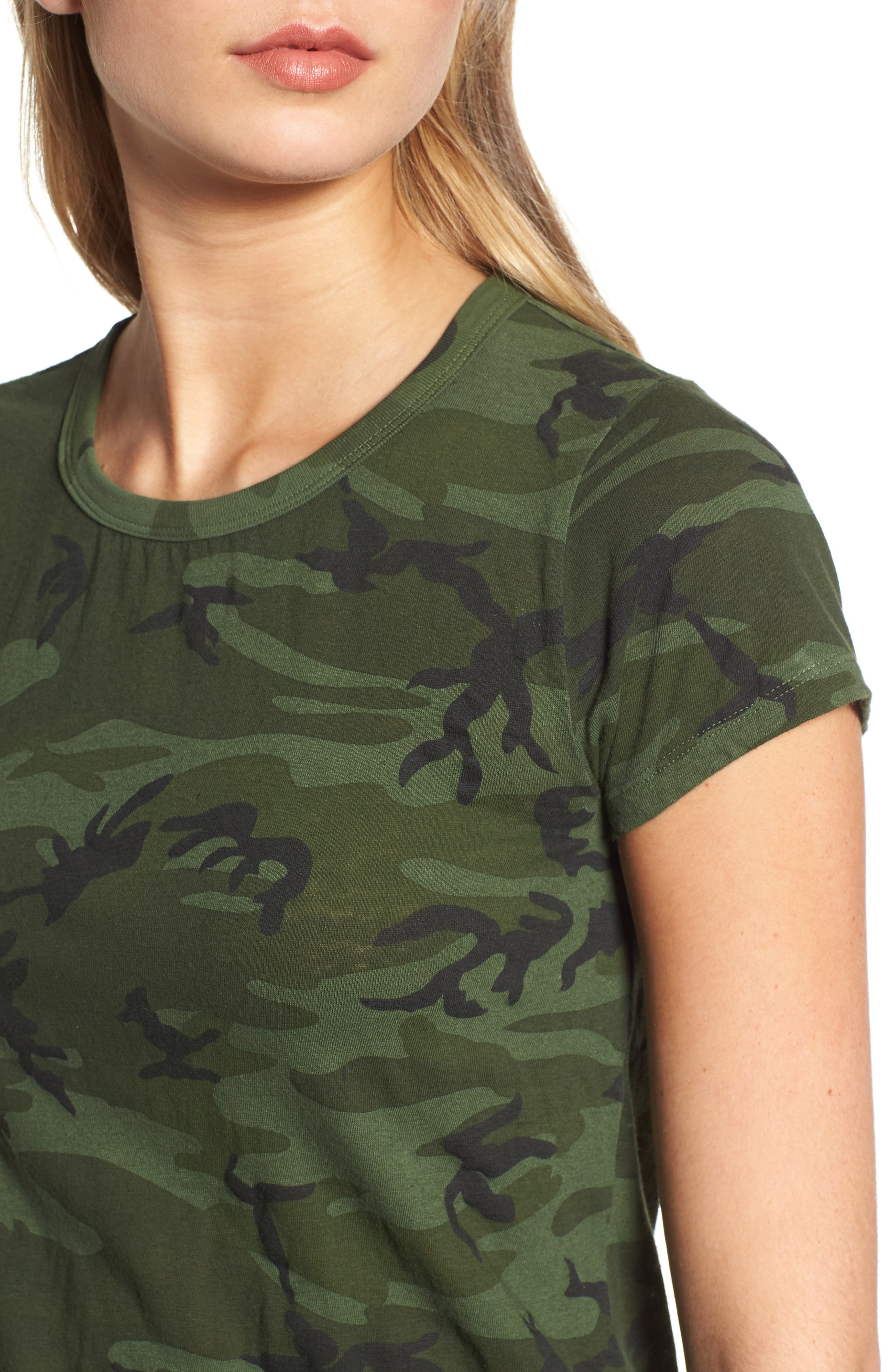Camo Print Tee,                             Alternate thumbnail 4, color,                             371