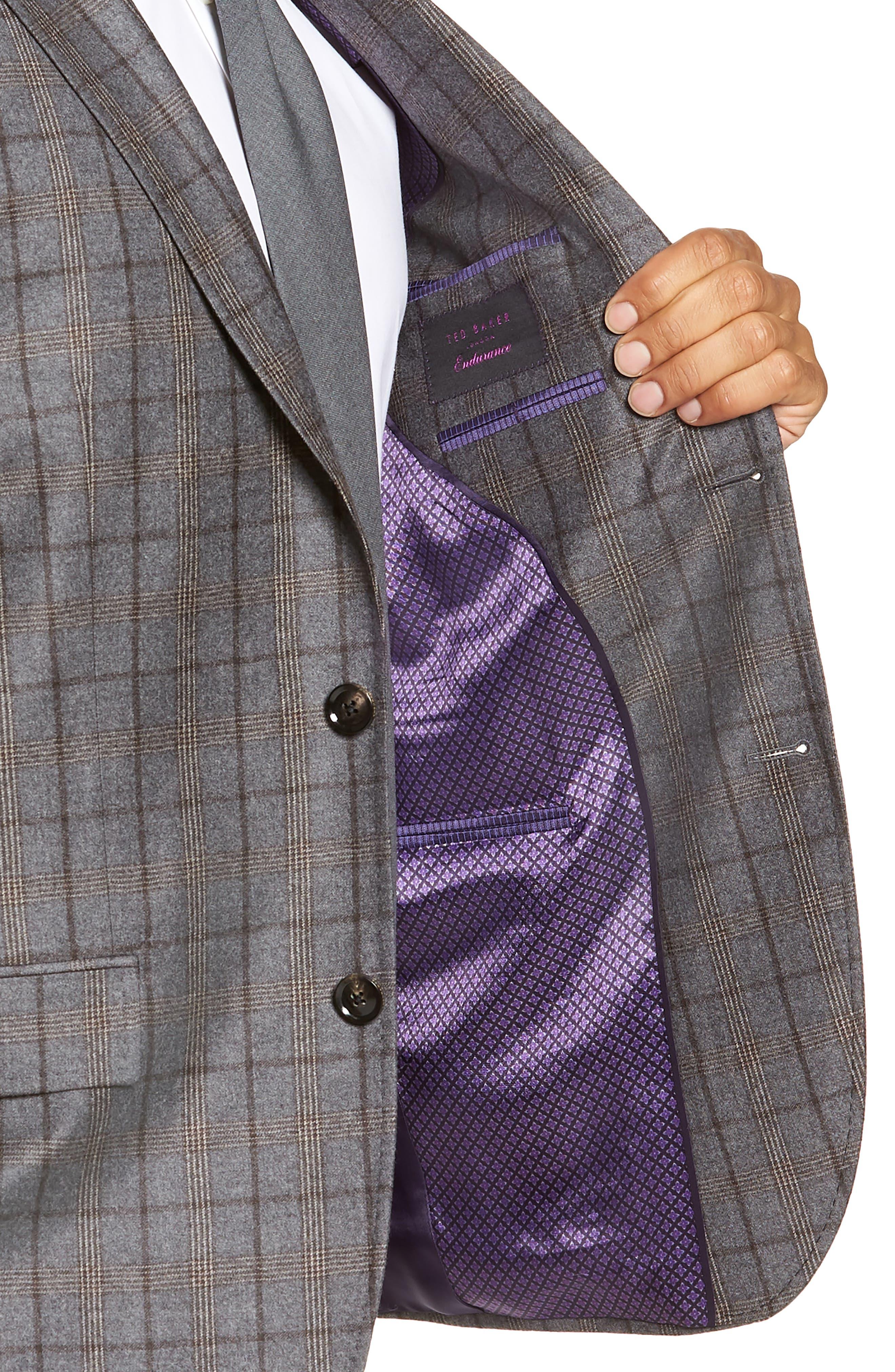 Konan 2B Trim Fit Wool Sport Coat,                             Alternate thumbnail 3, color,                             LIGHT GREY