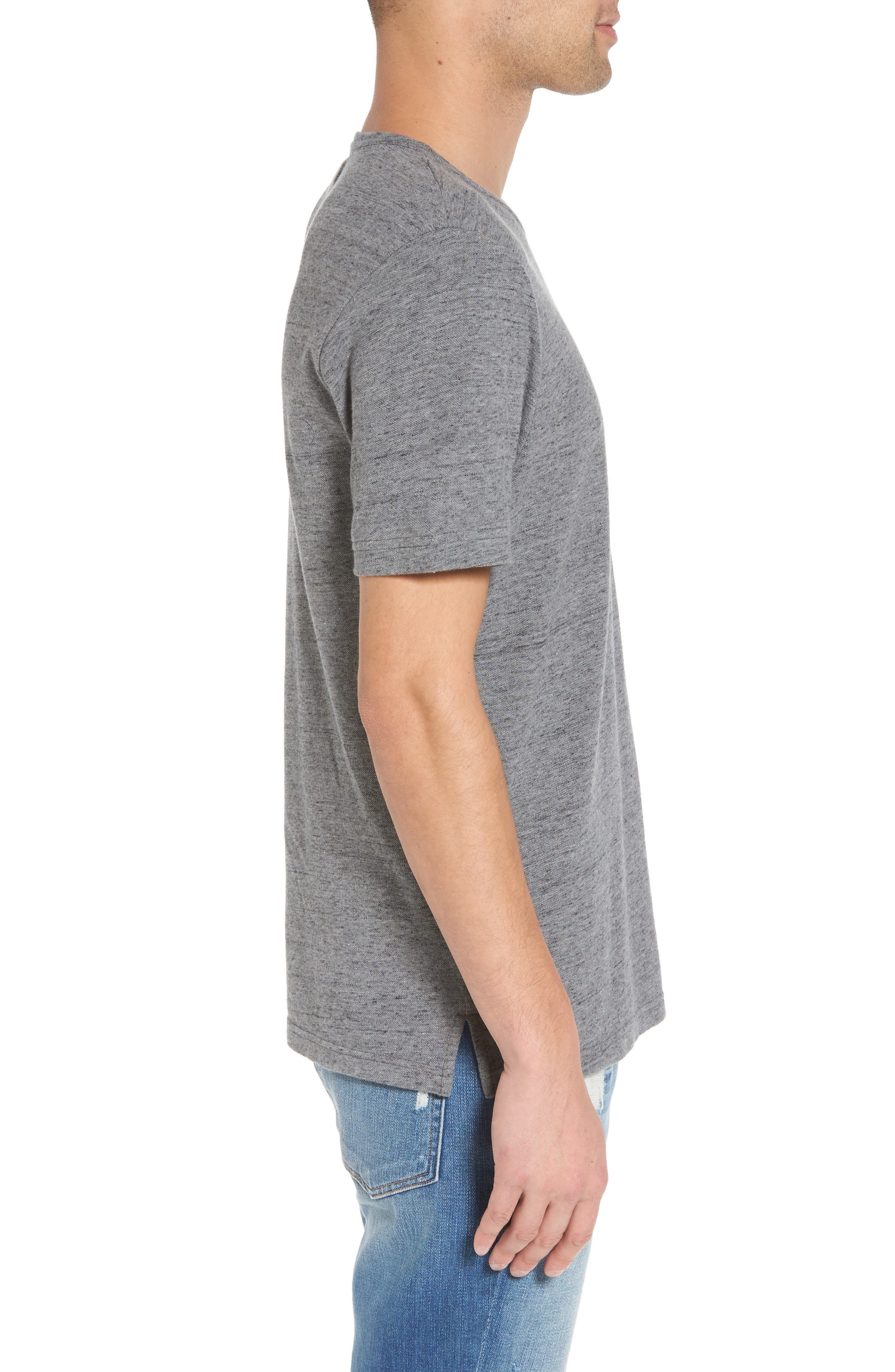 THE RAIL,                             Piqué T-Shirt,                             Alternate thumbnail 3, color,                             030