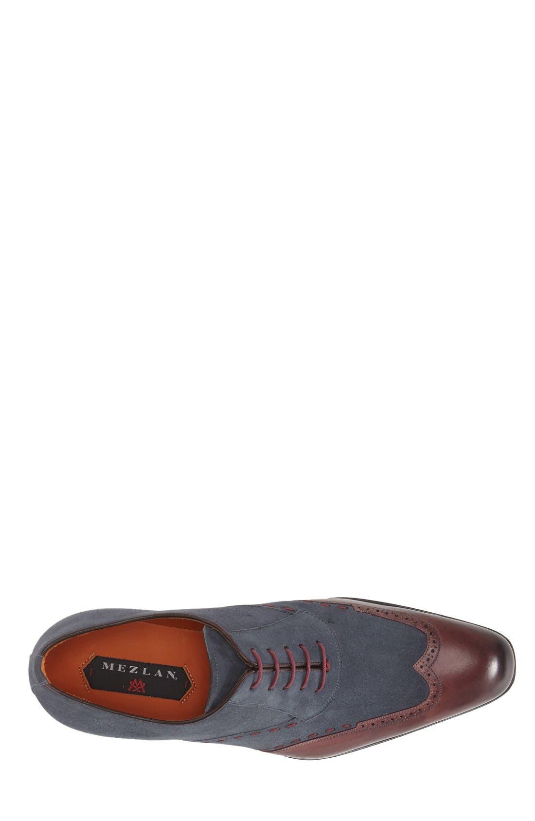 'Ronda' Spectator Shoe,                             Alternate thumbnail 2, color,                             BURGUNDY/ GREY