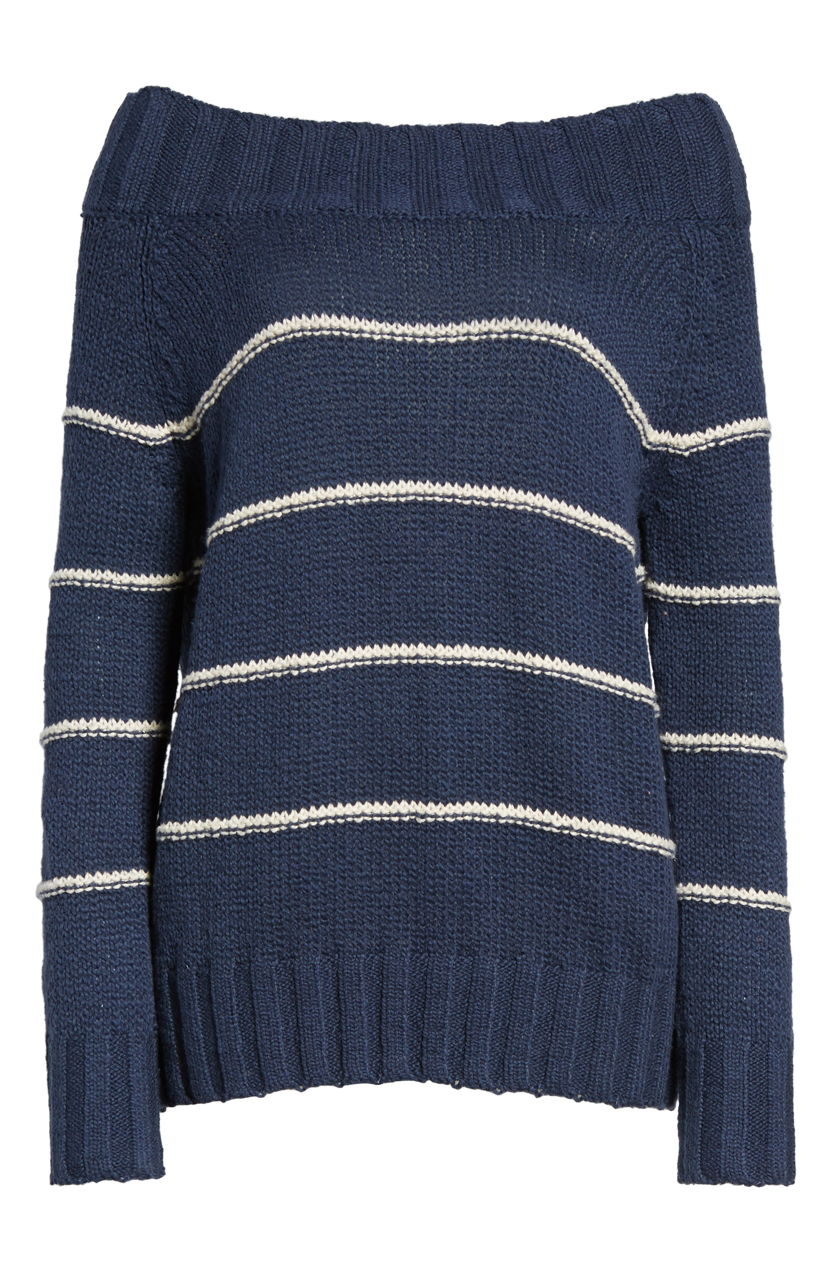Snuggle Down Off the Shoulder Sweater,                             Alternate thumbnail 6, color,                             400