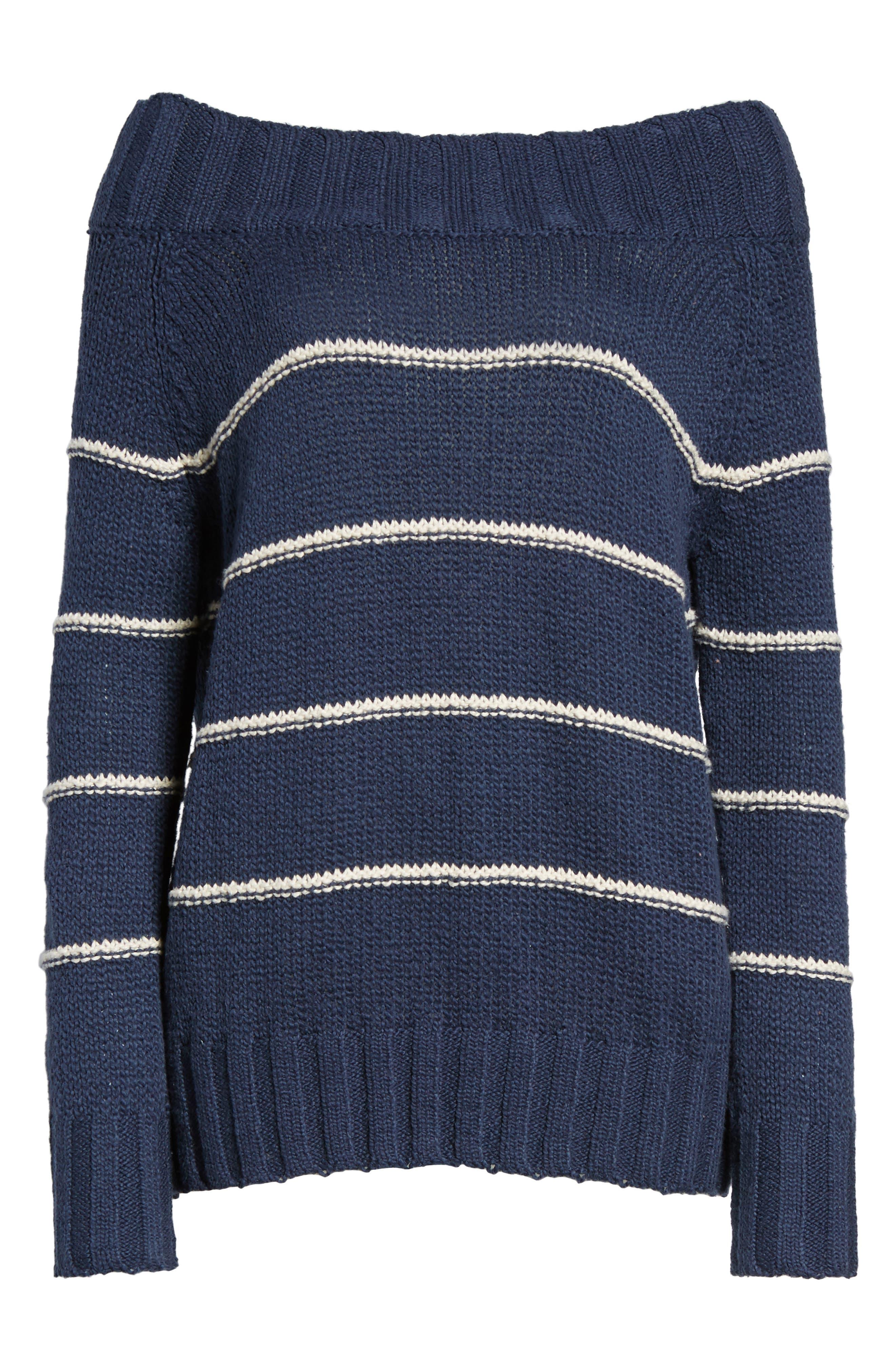 BILLABONG,                             Snuggle Down Off the Shoulder Sweater,                             Alternate thumbnail 6, color,                             400