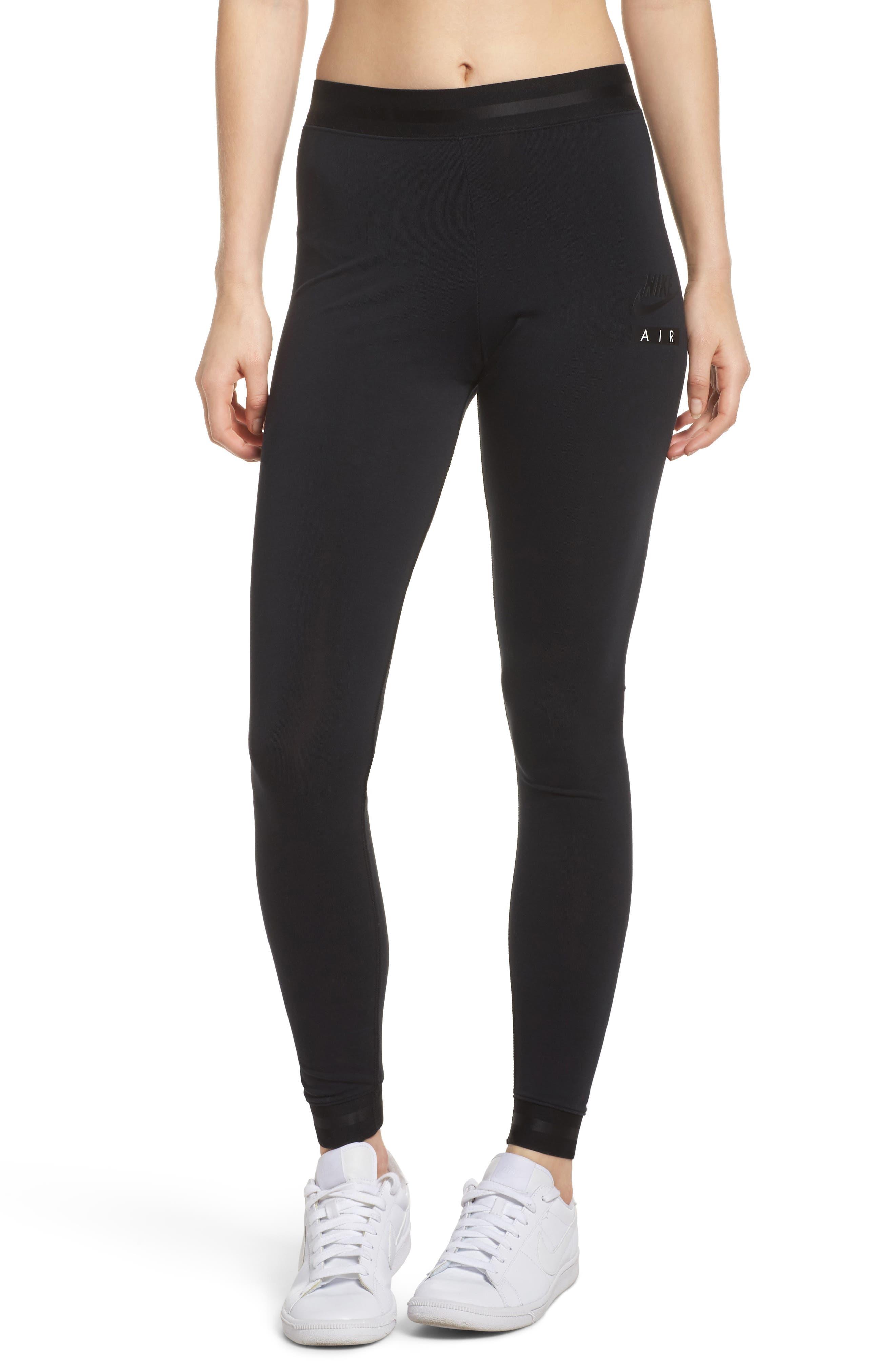 Sportswear Women's Leggings,                             Alternate thumbnail 3, color,                             BLACK/ BLACK/ BLACK