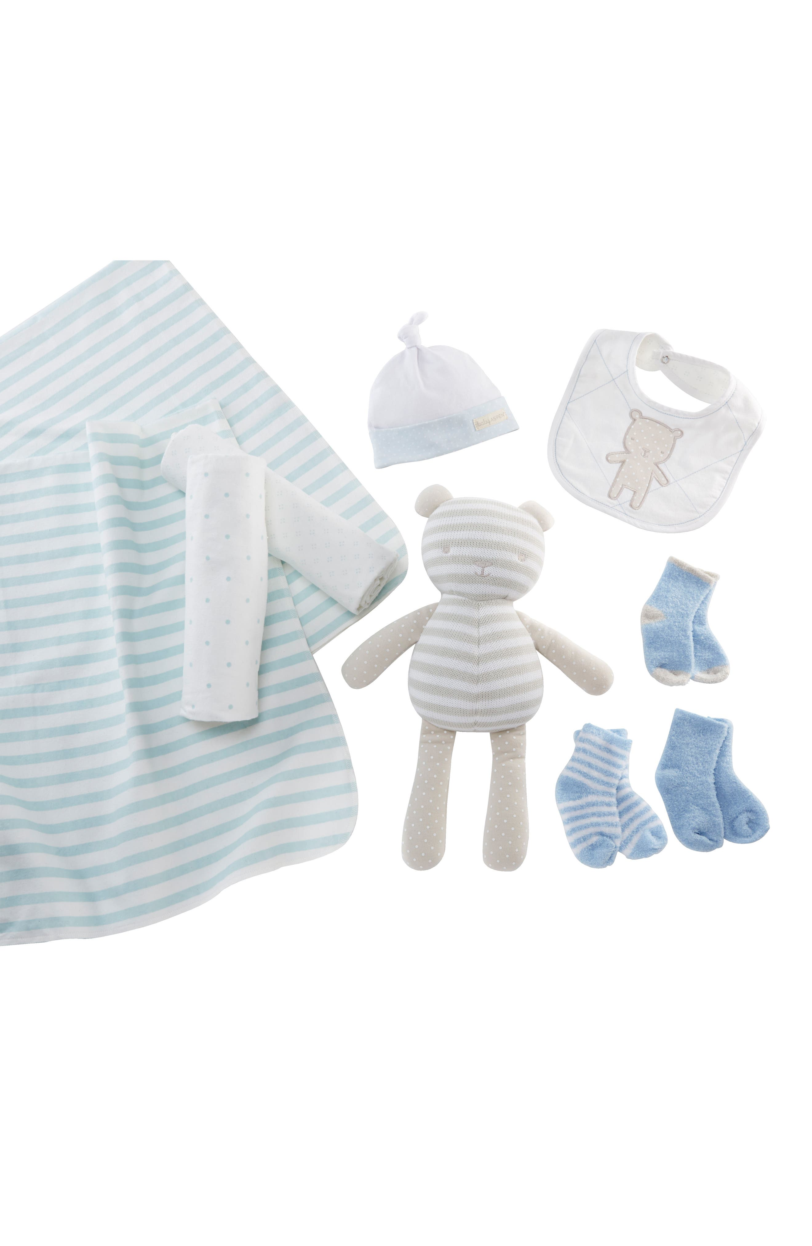 BABY ASPEN,                             Beary Special 10-Piece Gift Set,                             Main thumbnail 1, color,                             BLUE