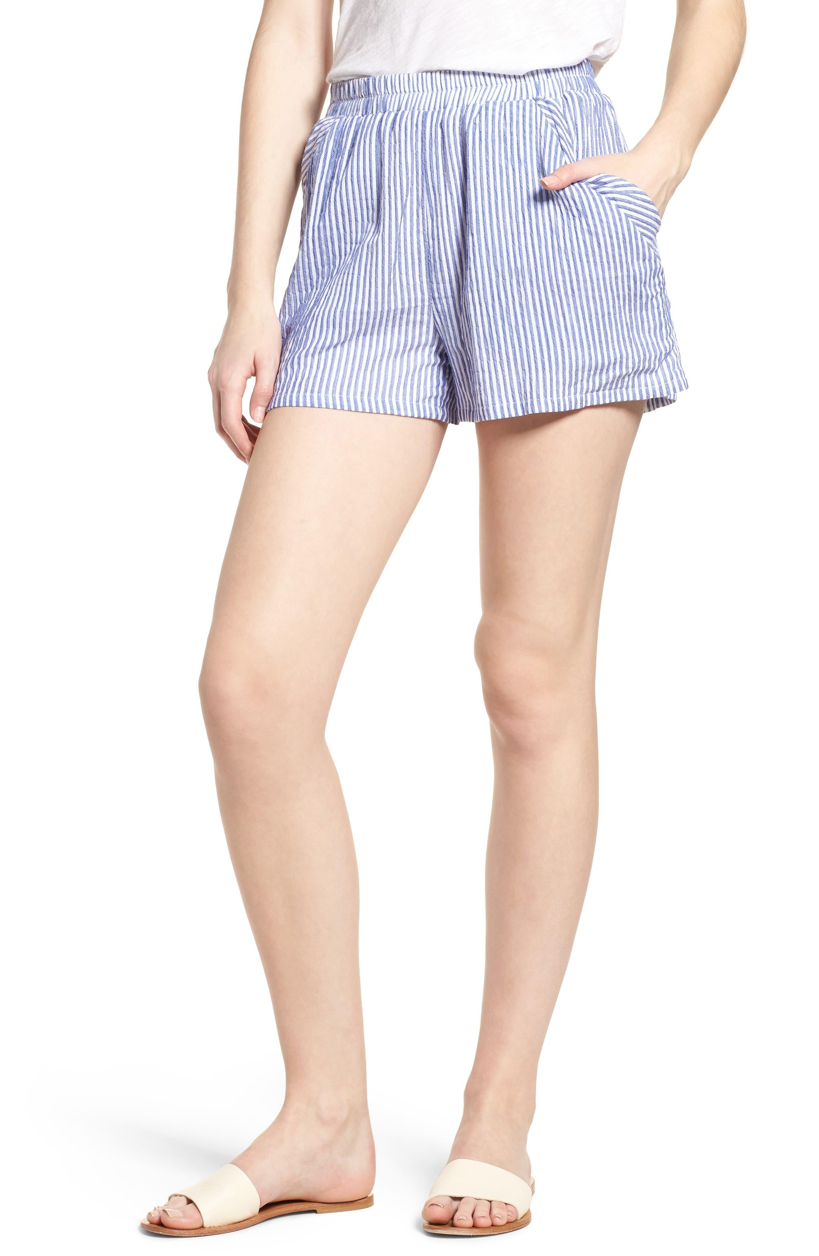 BISHOP + YOUNG,                             Stripe Shorts,                             Main thumbnail 1, color,                             400