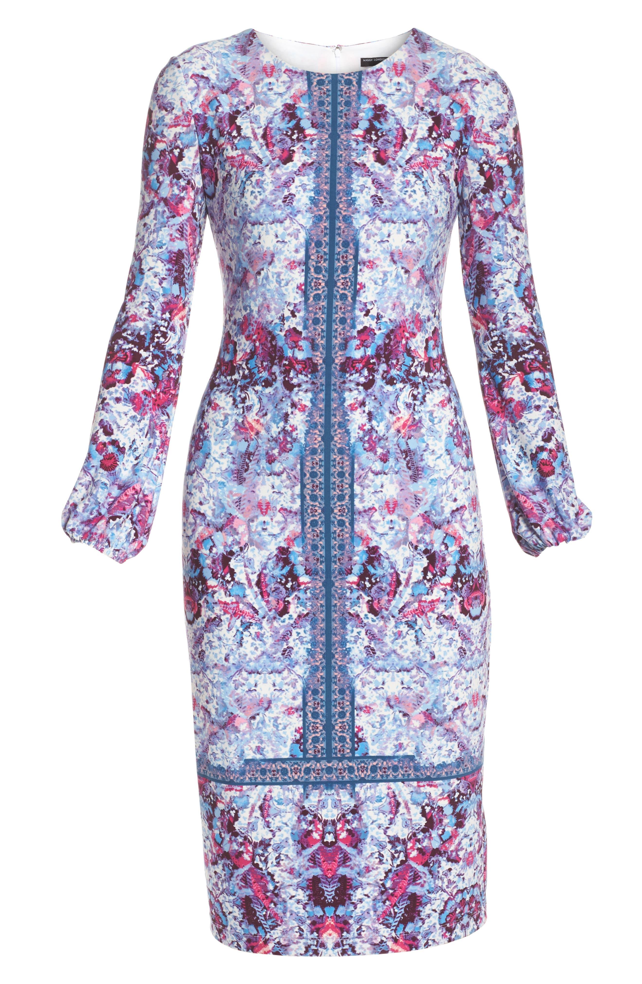Midi Sheath Dress,                             Alternate thumbnail 6, color,                             595