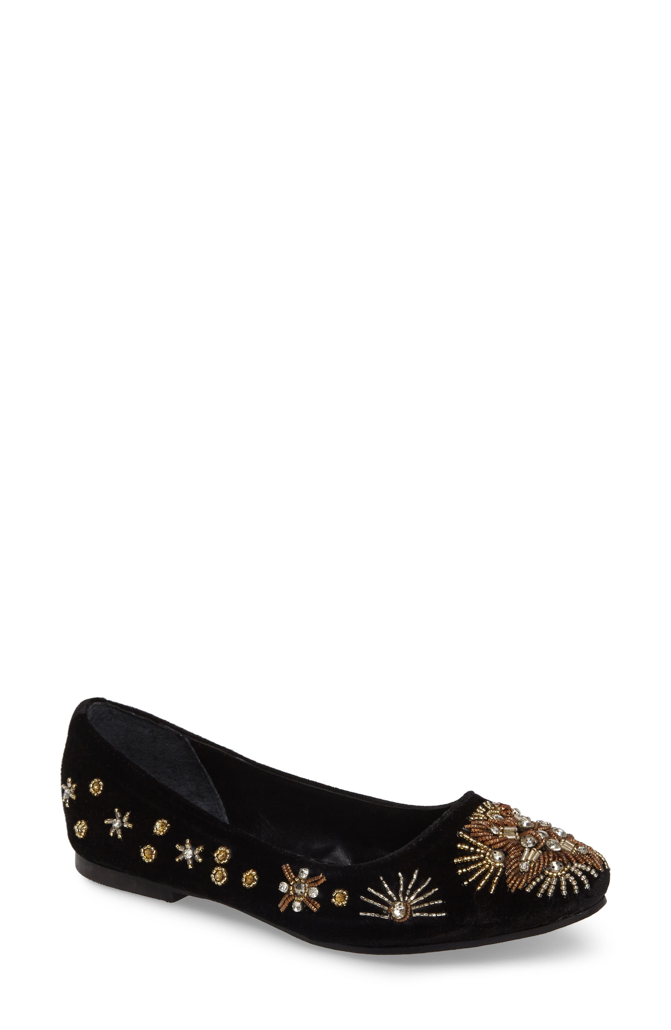 Labonge Embellished Flat,                         Main,                         color, 001