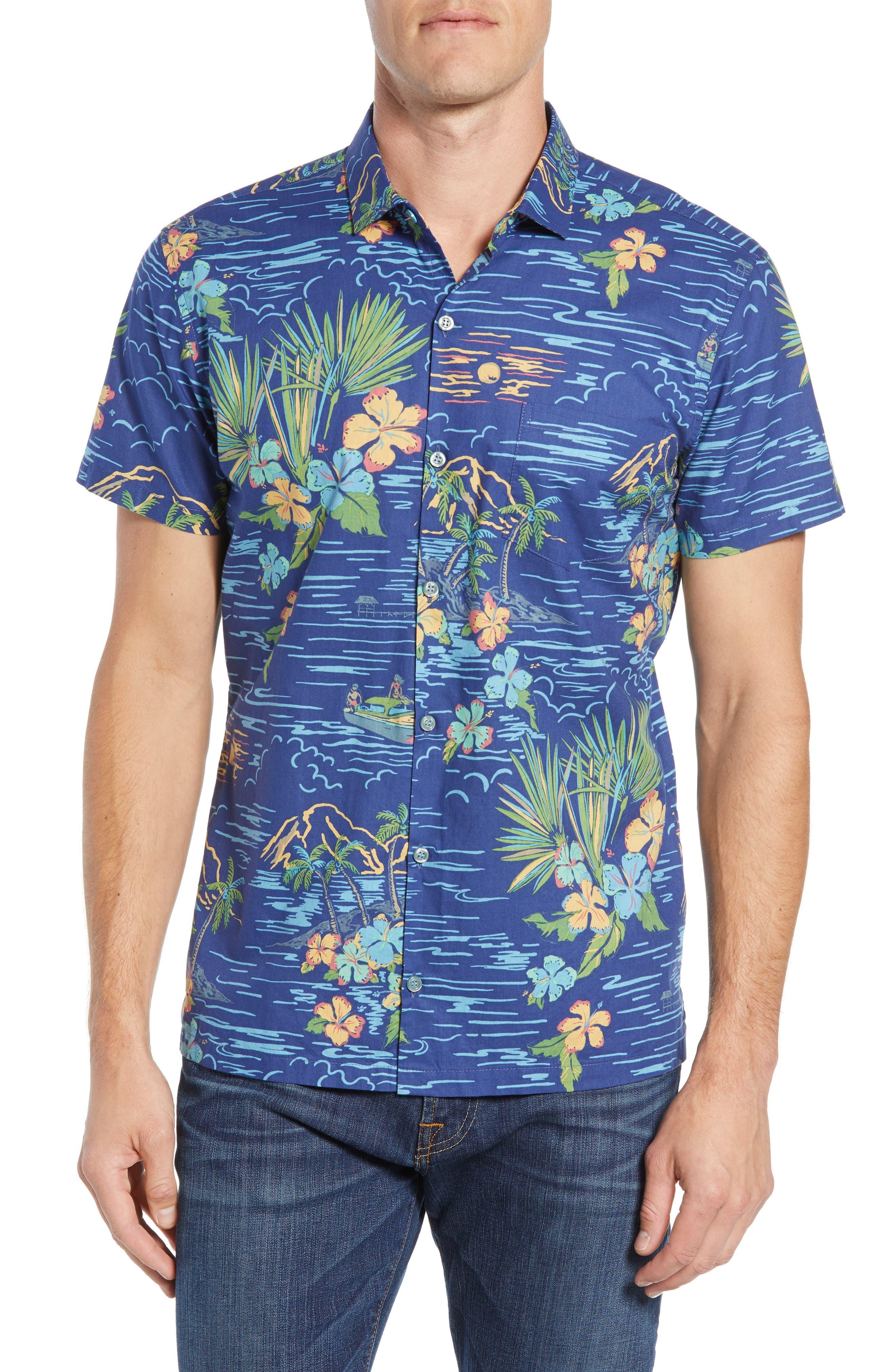 Bali Trim Fit Sport Shirt,                         Main,                         color, 415