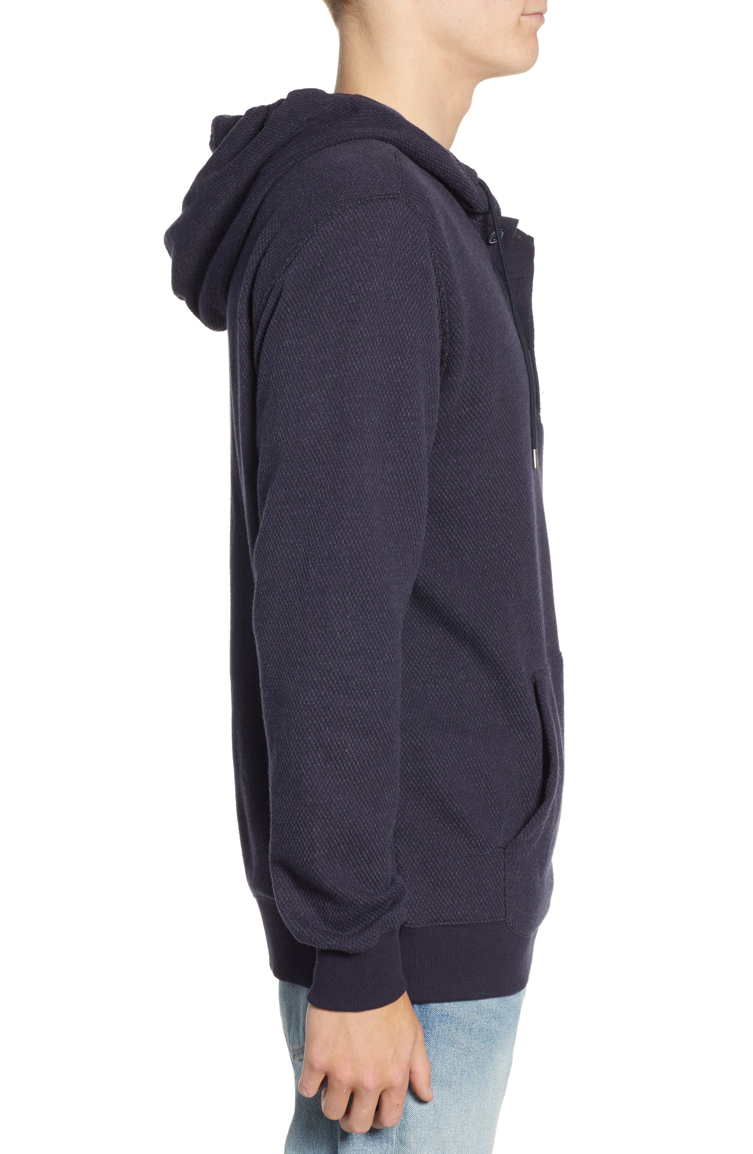 Lupo Pullover Hoodie,                             Alternate thumbnail 3, color,                             NEW NAVY
