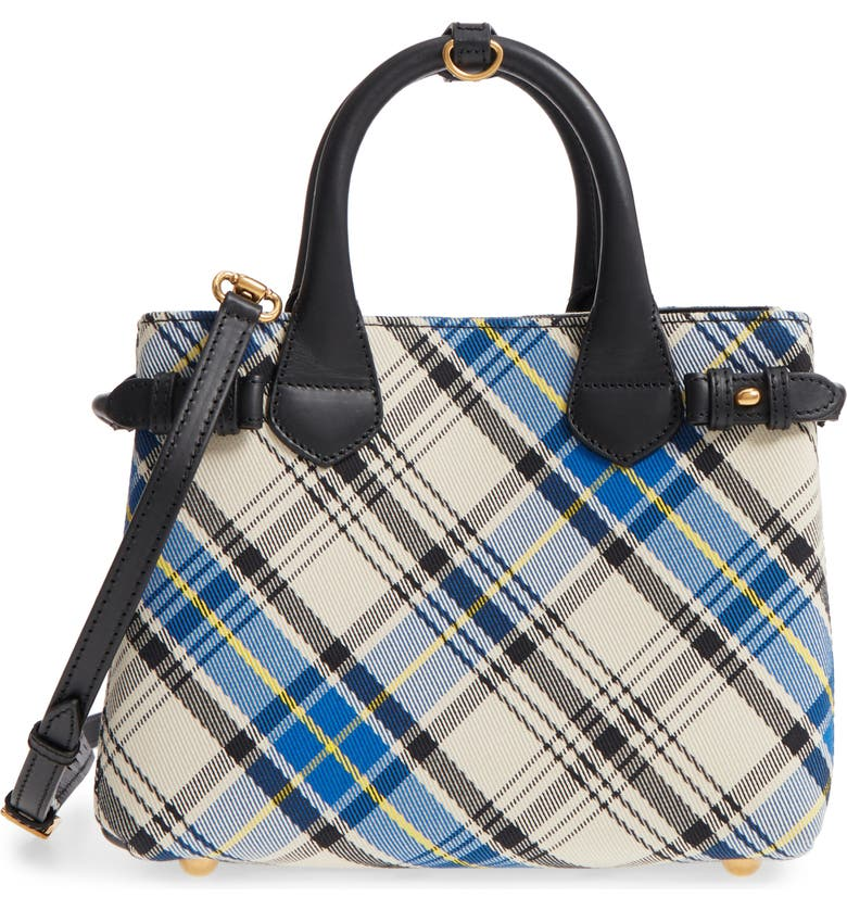 440ea2664487 Burberry Small Banner Tartan Mix Tote
