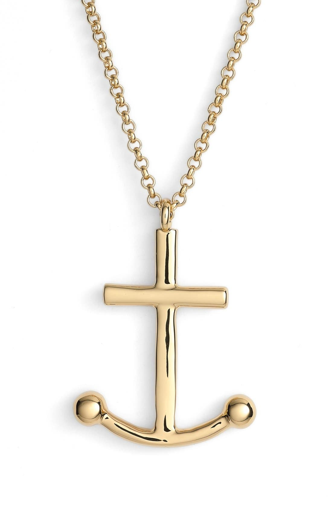 KATE SPADE NEW YORK,                             'anchors away' pendant necklace,                             Alternate thumbnail 2, color,                             710