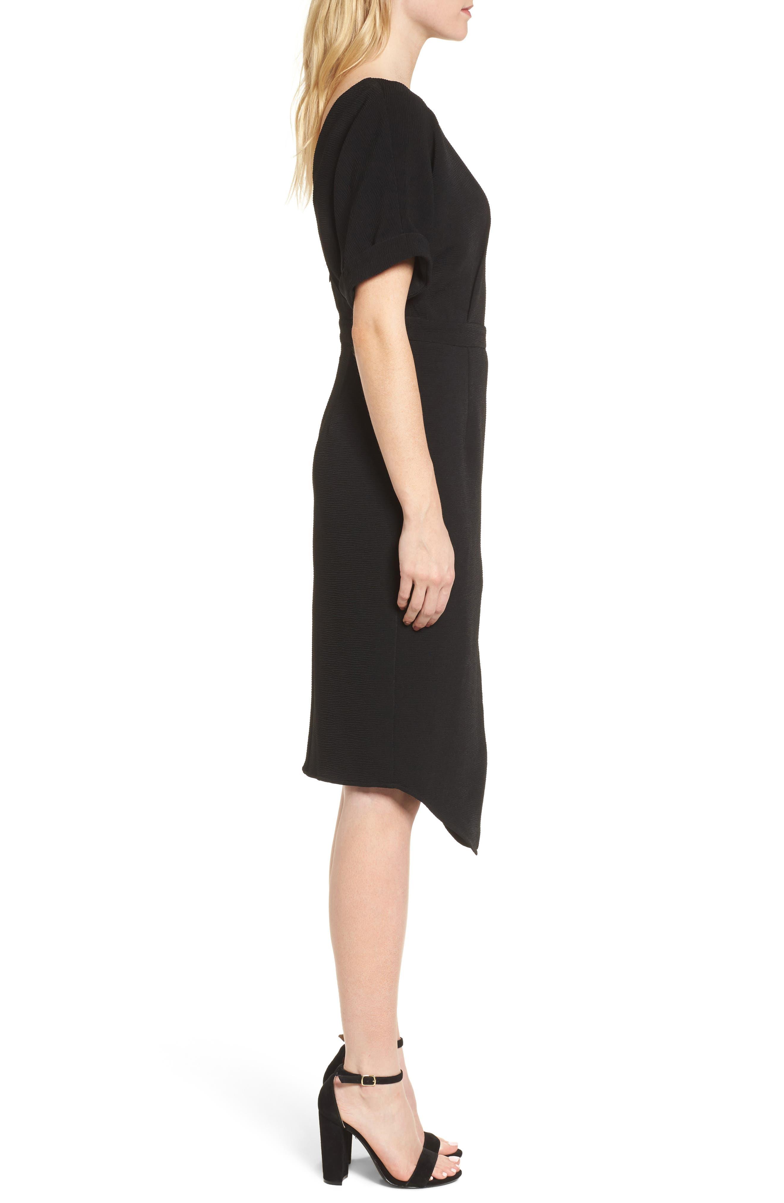 Barre Dress,                             Alternate thumbnail 3, color,                             001