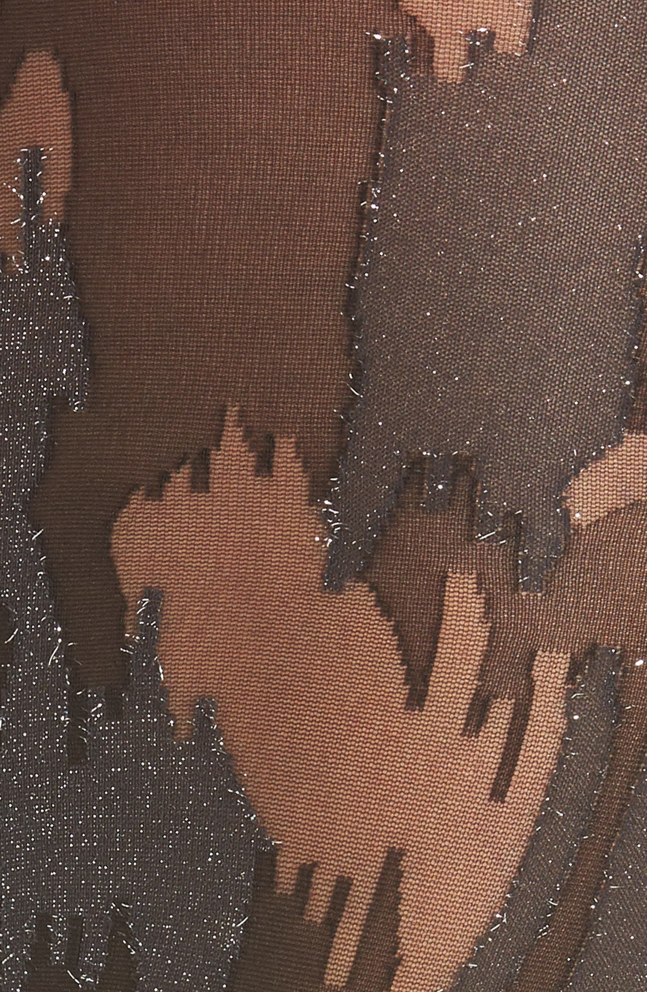 Metallic Camouflage Tights,                             Alternate thumbnail 3, color,                             003