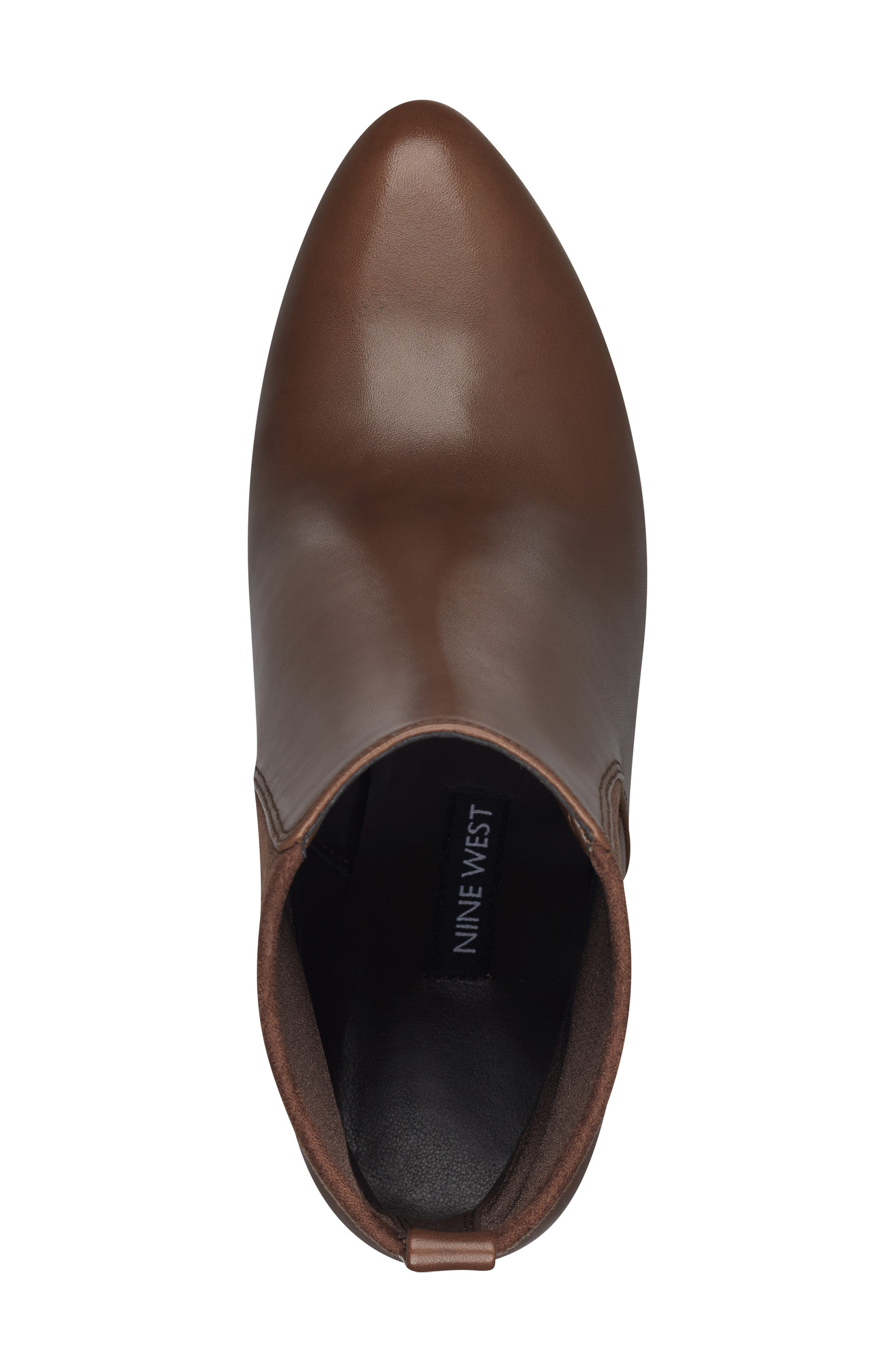 Quillen Stretch Bootie,                             Alternate thumbnail 5, color,                             BROWN LEATHER