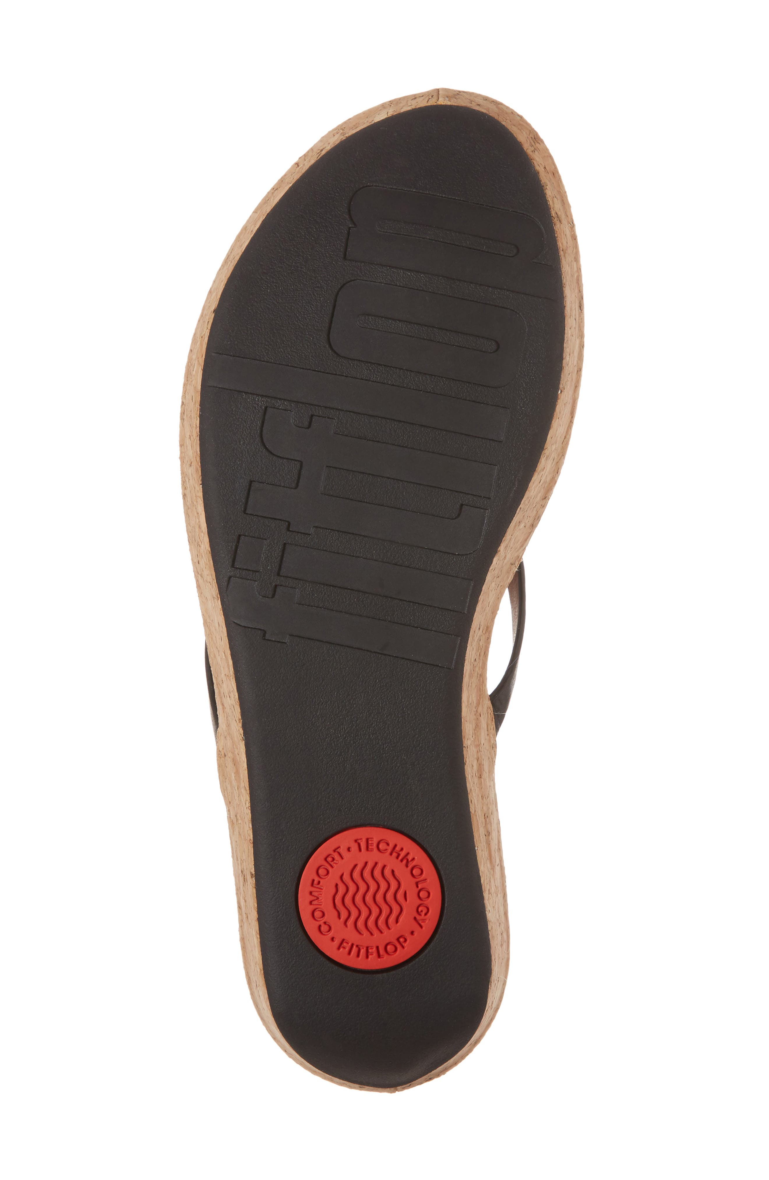 FITFLOP,                             Linny Wedge Flip Flop,                             Alternate thumbnail 6, color,                             001