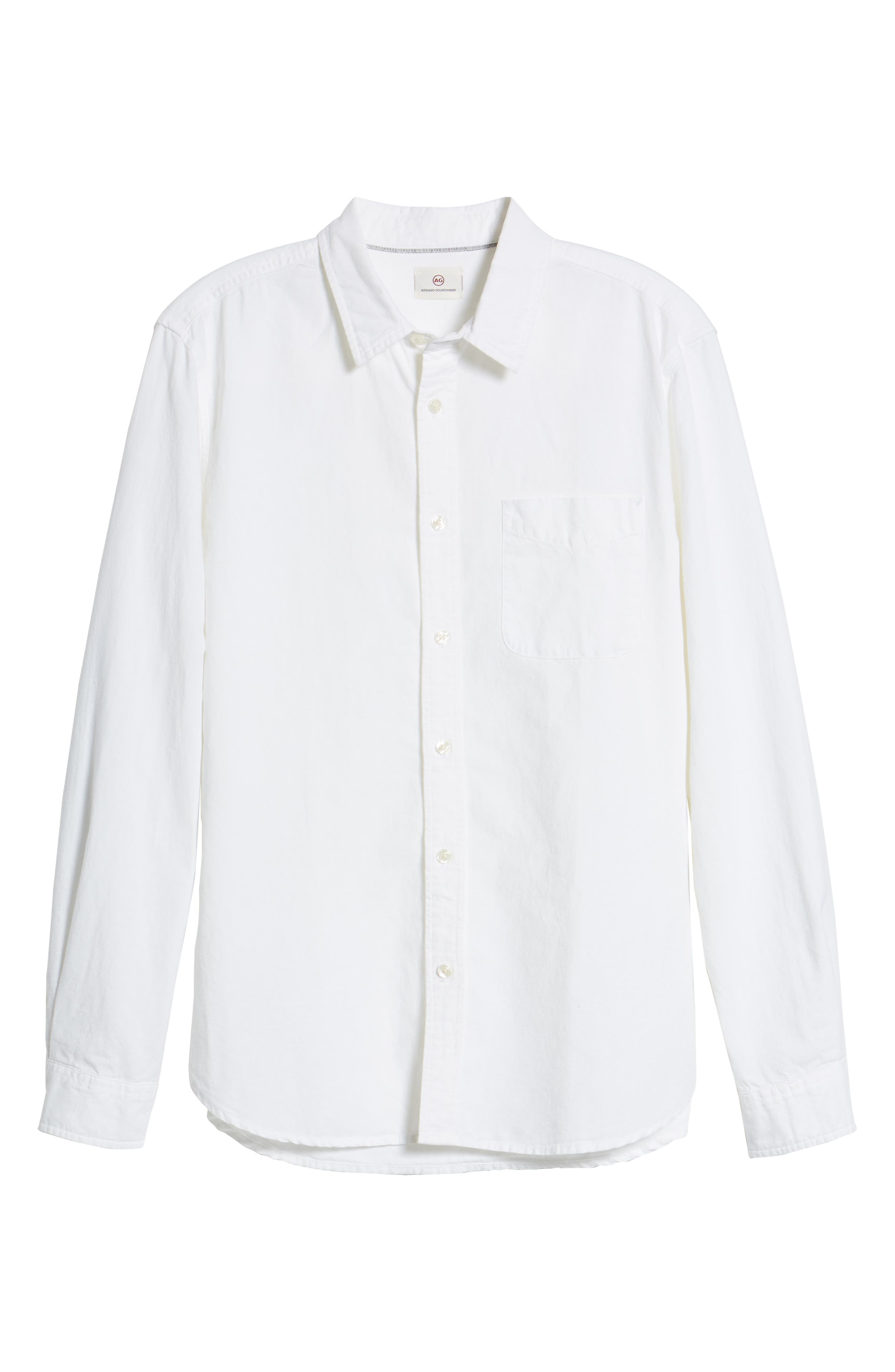 Colton Regular Fit Cotton & Linen Sport Shirt,                             Alternate thumbnail 6, color,                             TRUE WHITE