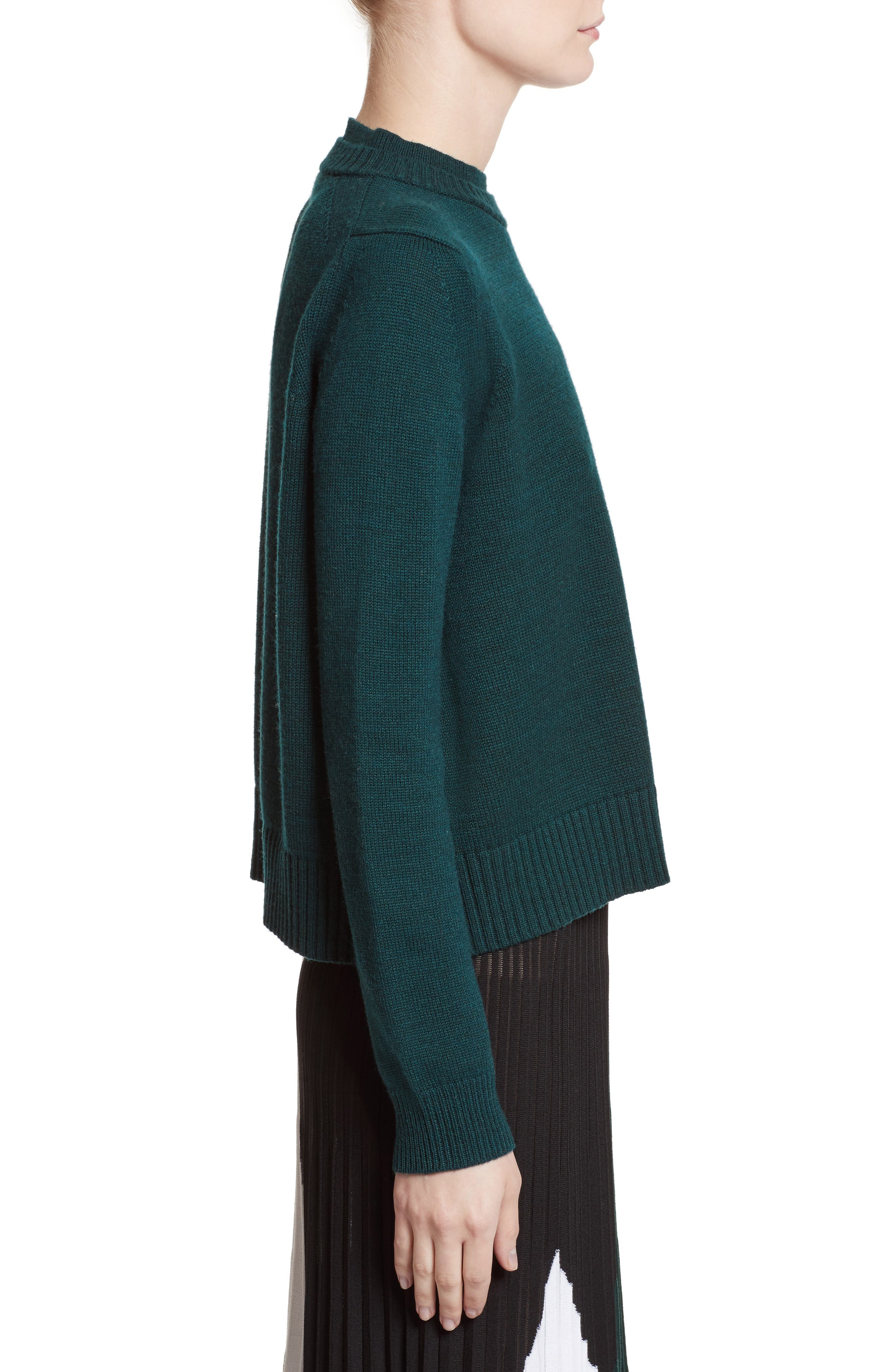 Wool, Silk & Cashmere Pullover,                             Alternate thumbnail 3, color,
