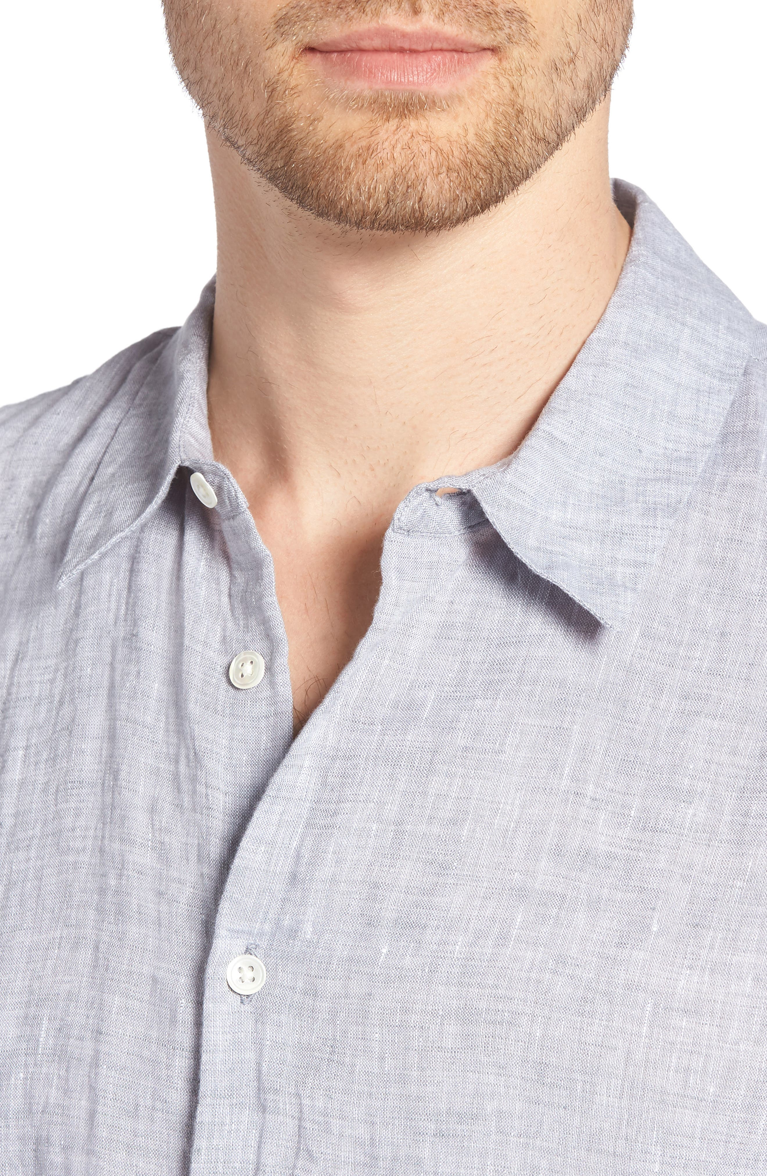 Slim Fit Linen Sport Shirt,                             Alternate thumbnail 10, color,