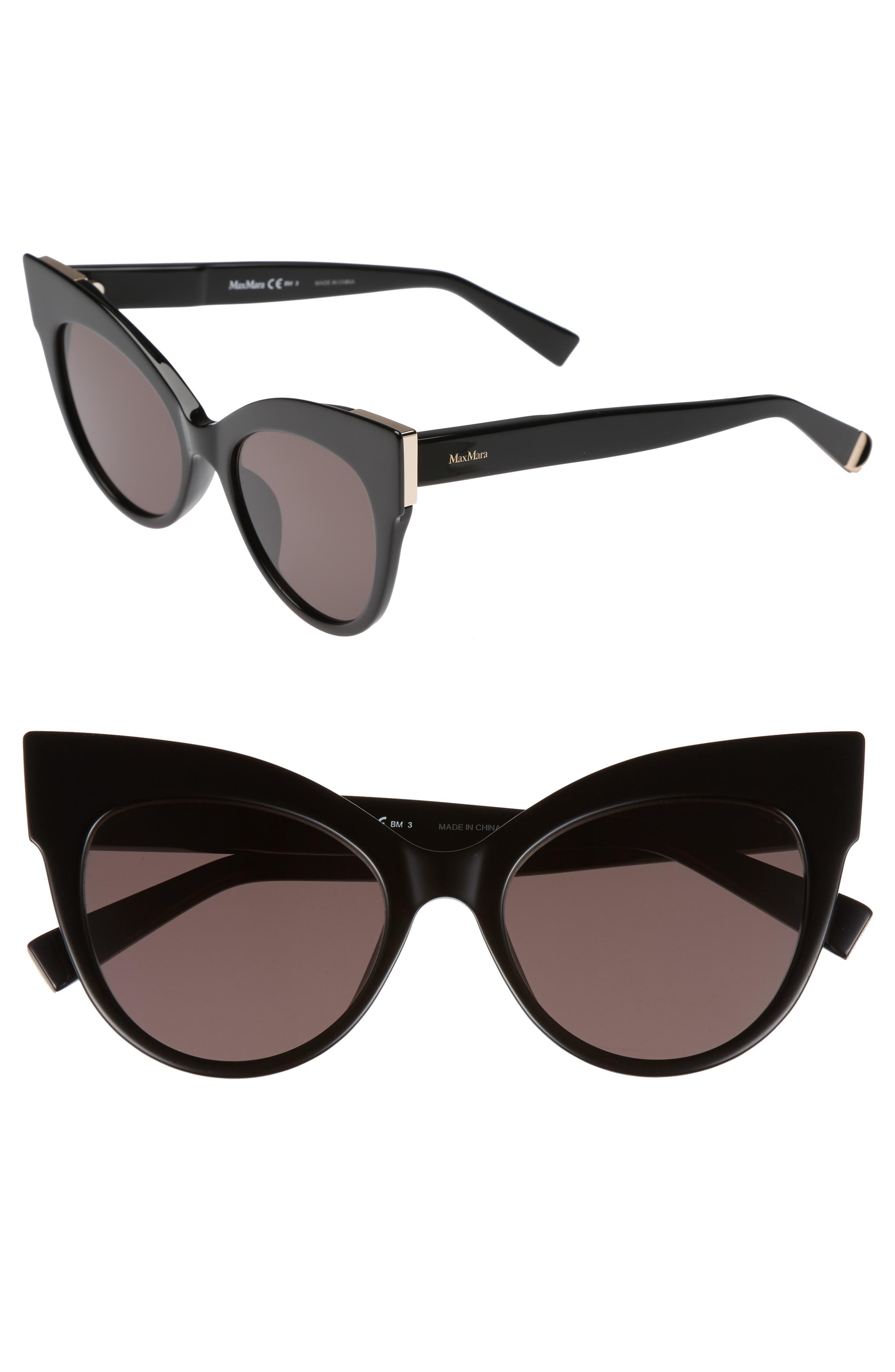 Anita 52mm Cat Eye Sunglasses,                             Main thumbnail 1, color,                             001