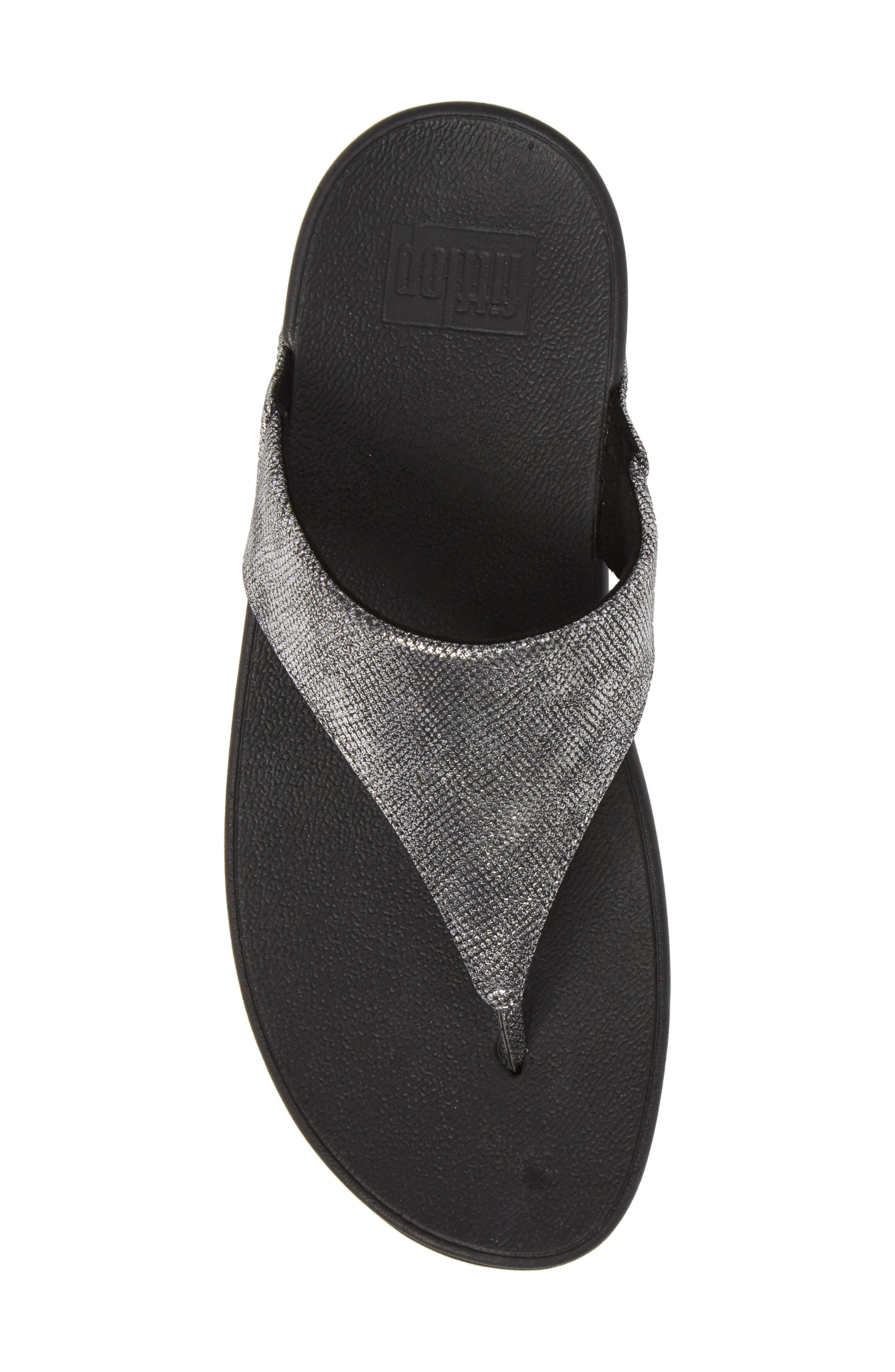 FITFLOP,                             Lulu Thong Sandal,                             Alternate thumbnail 5, color,                             004