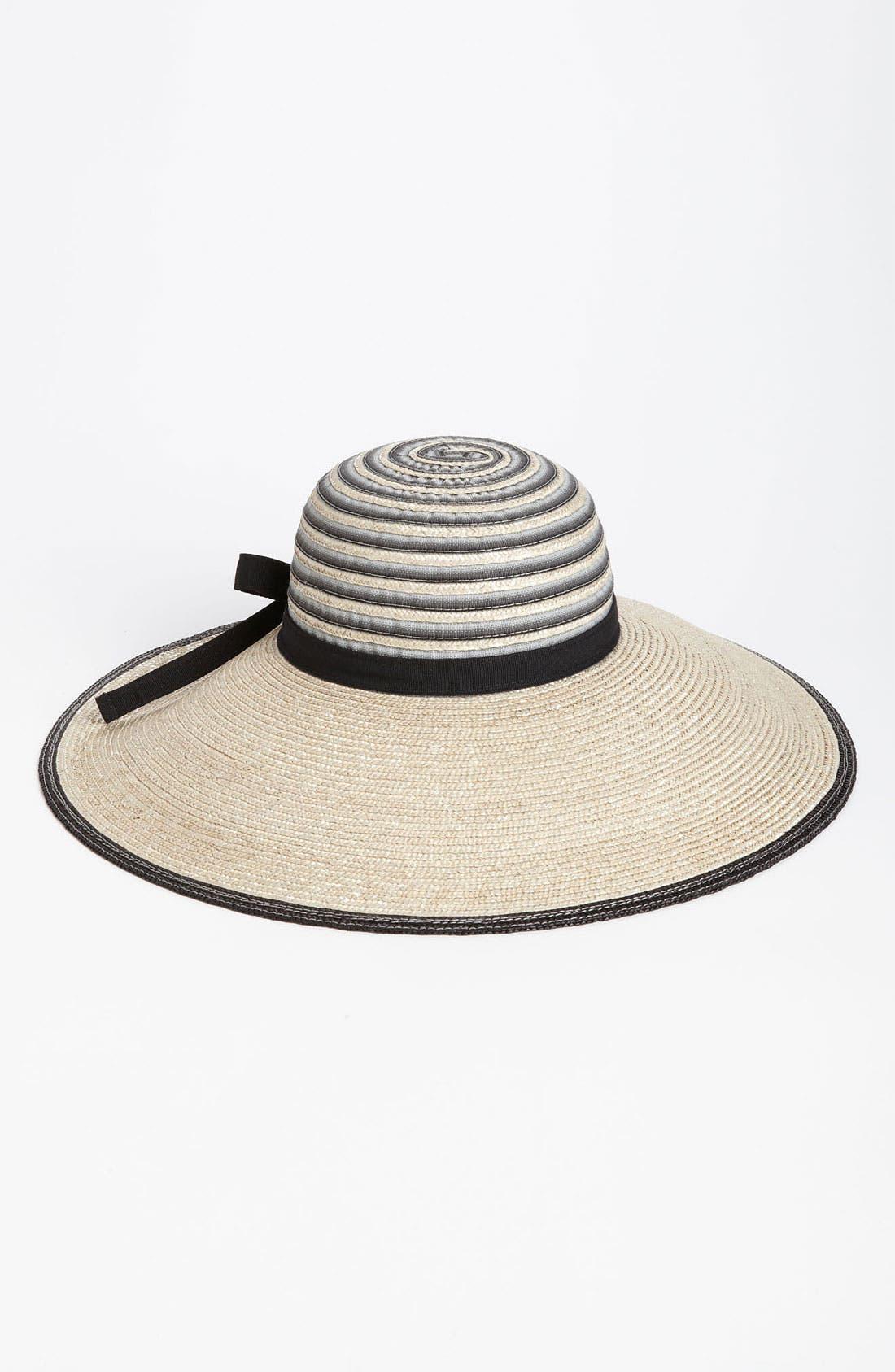 NORDSTROM,                             Dégradé Ribbon Sun Hat,                             Main thumbnail 1, color,                             001