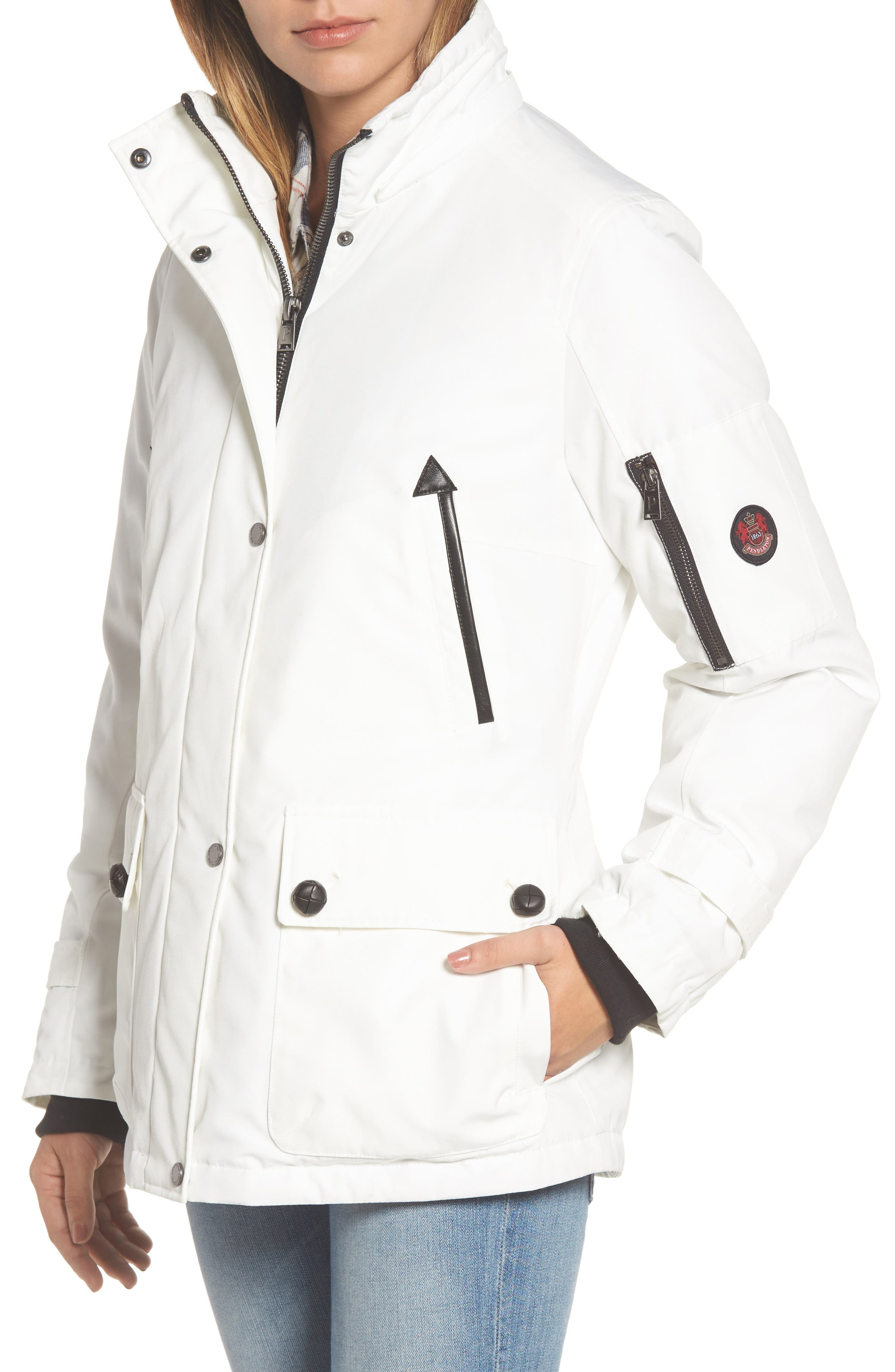 Bachelor Water Repellent Hooded Down Parka with Genuine Coyote Fur Trim,                             Alternate thumbnail 14, color,