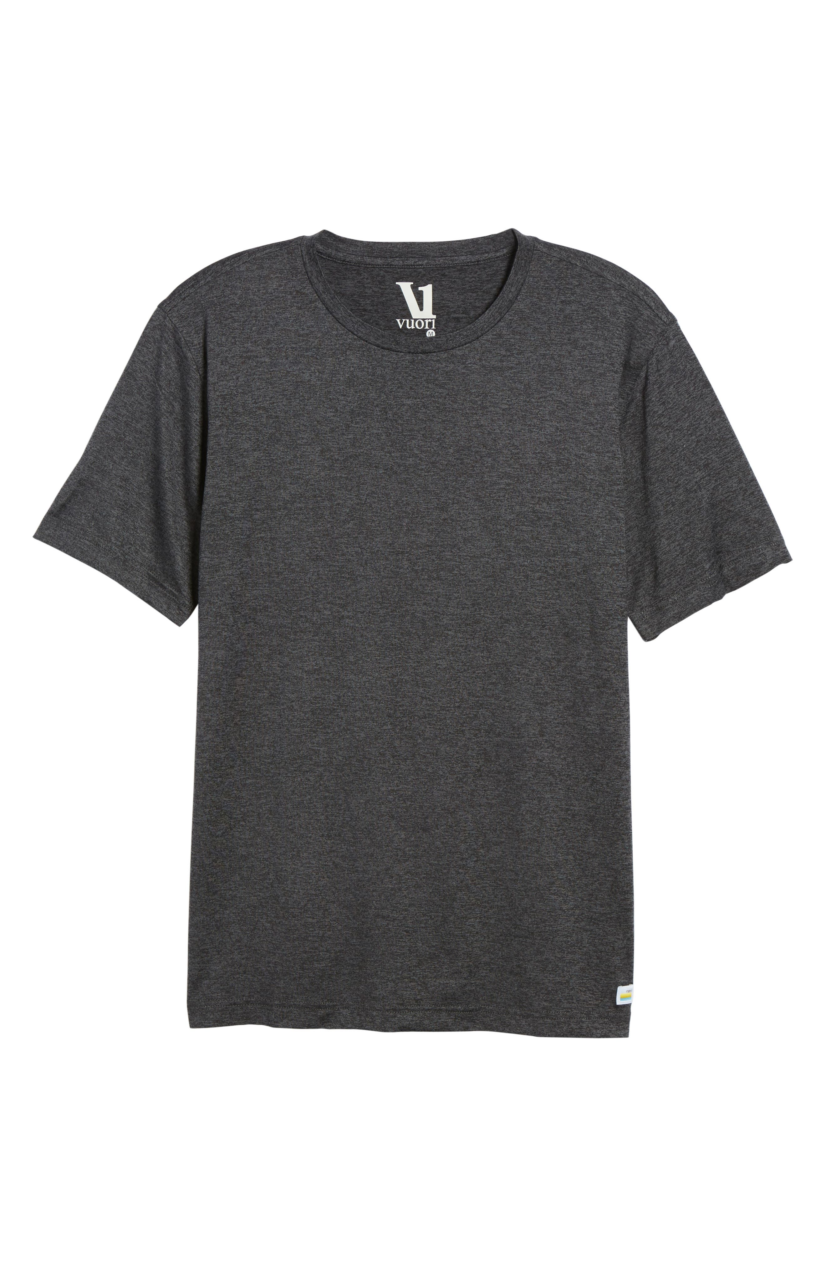 Strato Slim Fit Crewneck T-Shirt,                             Alternate thumbnail 6, color,                             HEATHER CHARCOAL