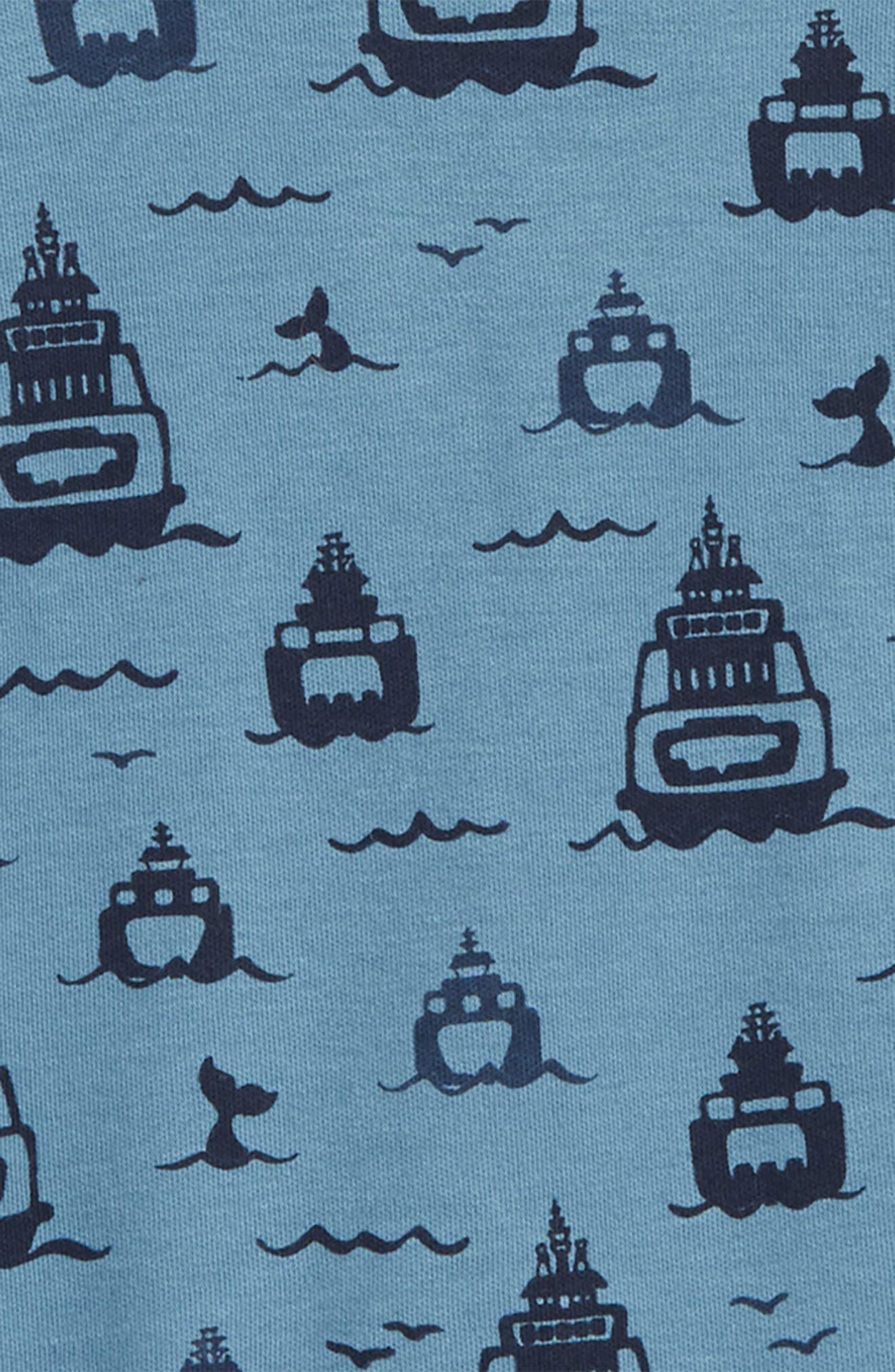 Ferries Organic Cotton Footie,                             Alternate thumbnail 2, color,                             400