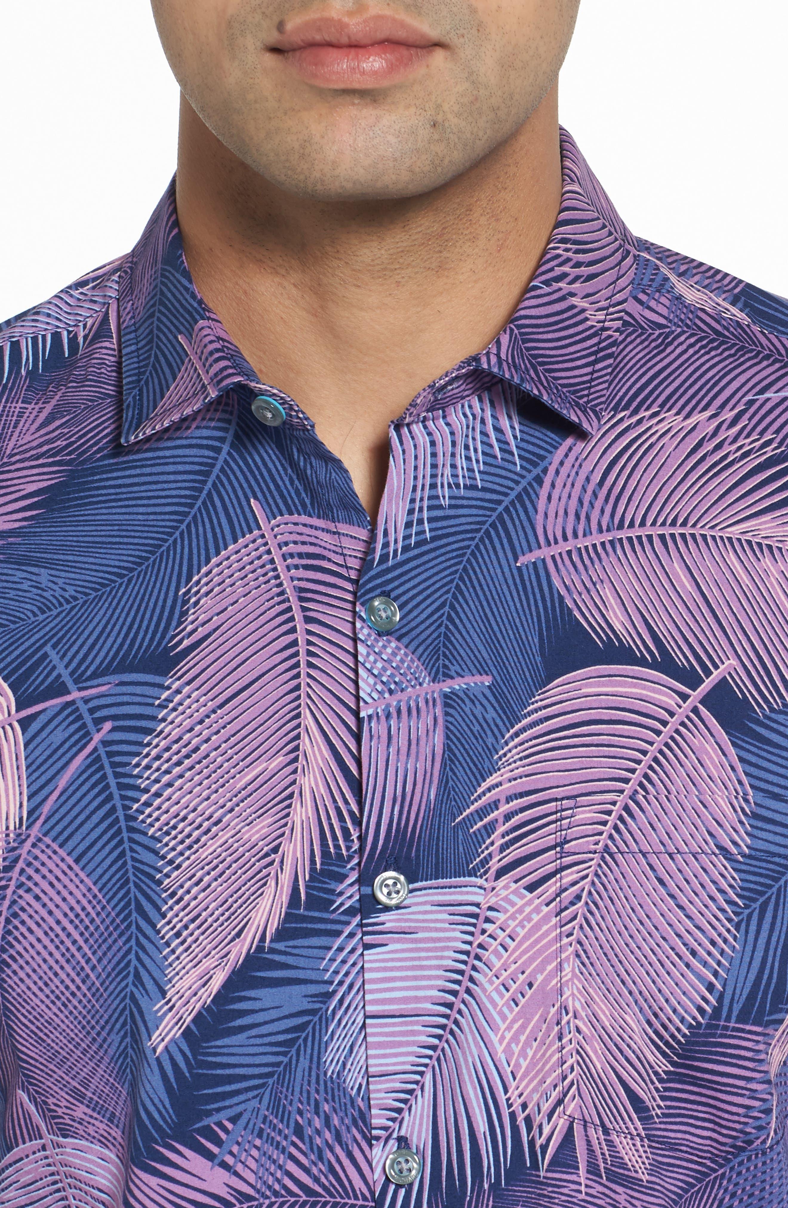 Shadow Play Trim Fit Sport Shirt,                             Alternate thumbnail 4, color,                             415