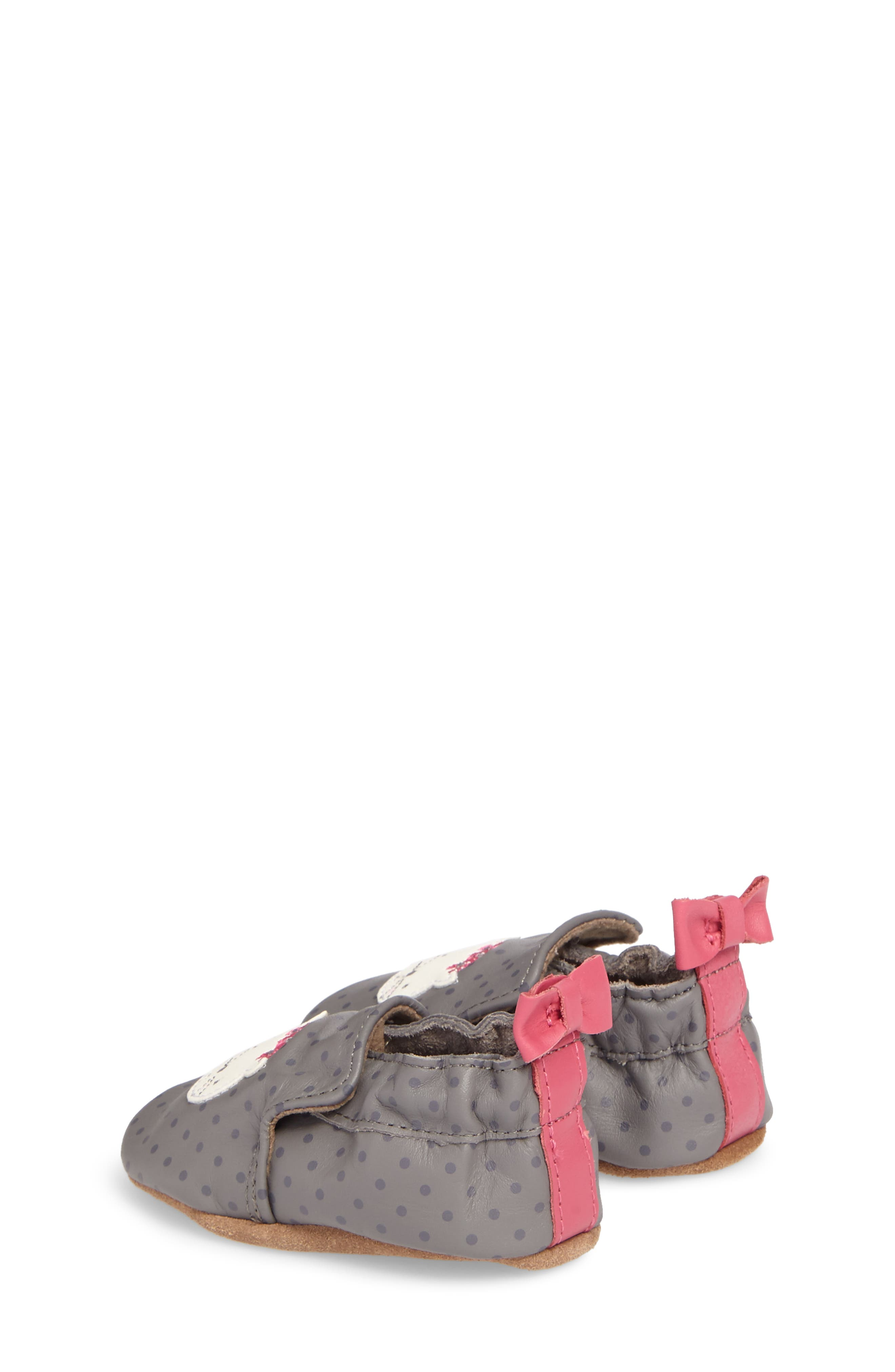 Miss Kitty Crib Shoe,                             Alternate thumbnail 2, color,                             GREY