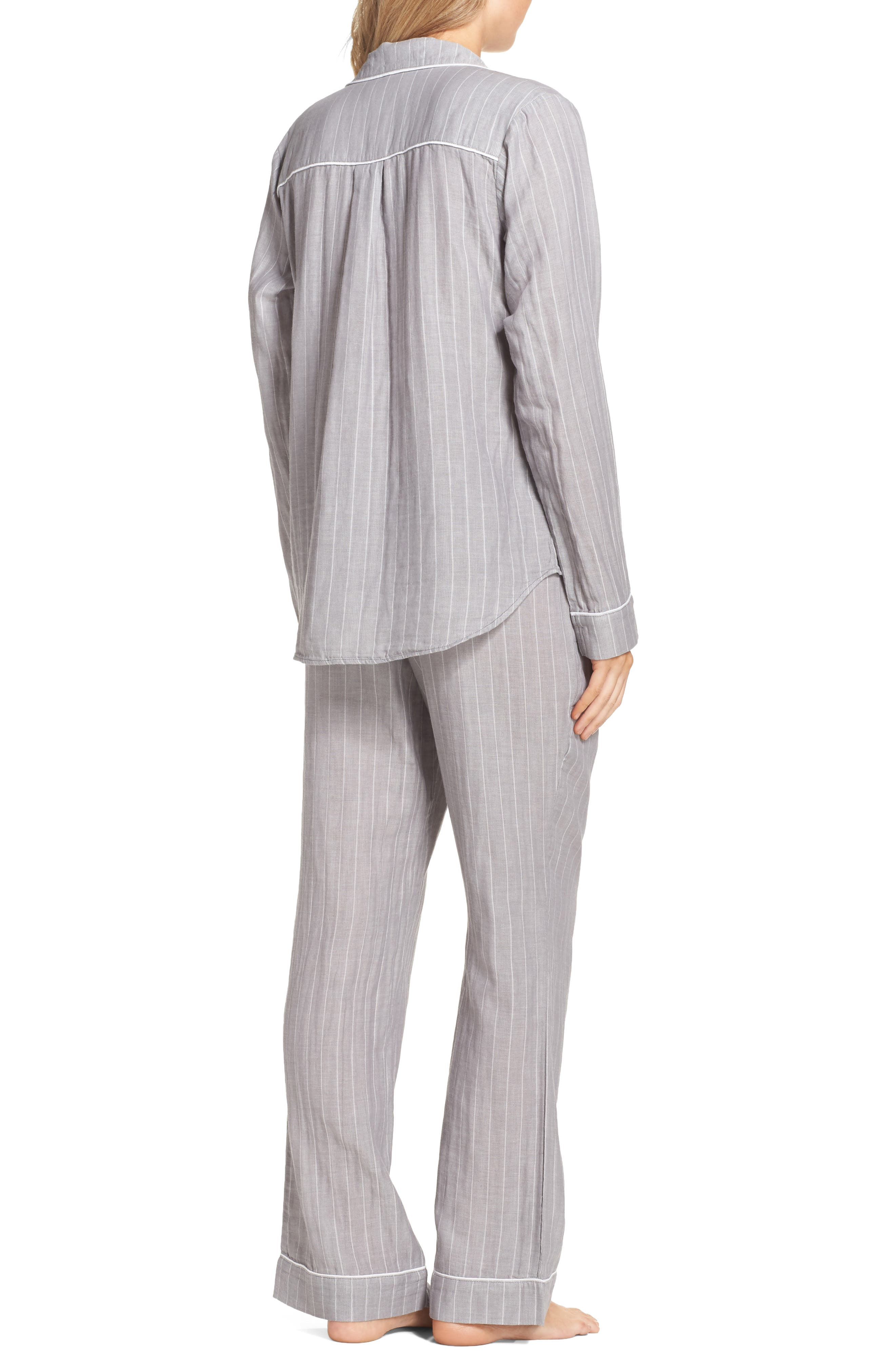 Raven Stripe Pajamas,                             Alternate thumbnail 2, color,                             020