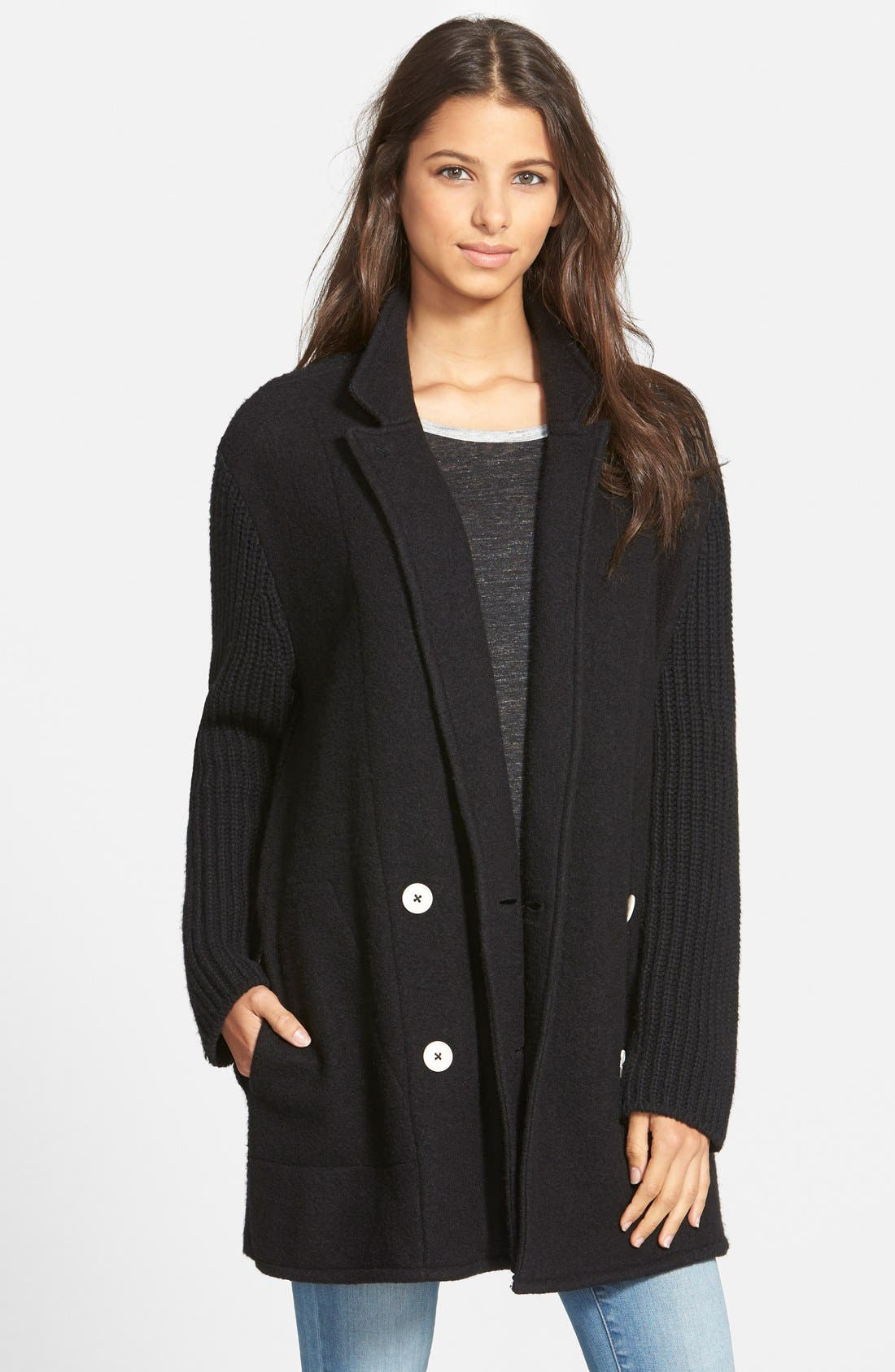 'Charlie' Sweater Coat, Main, color, 001