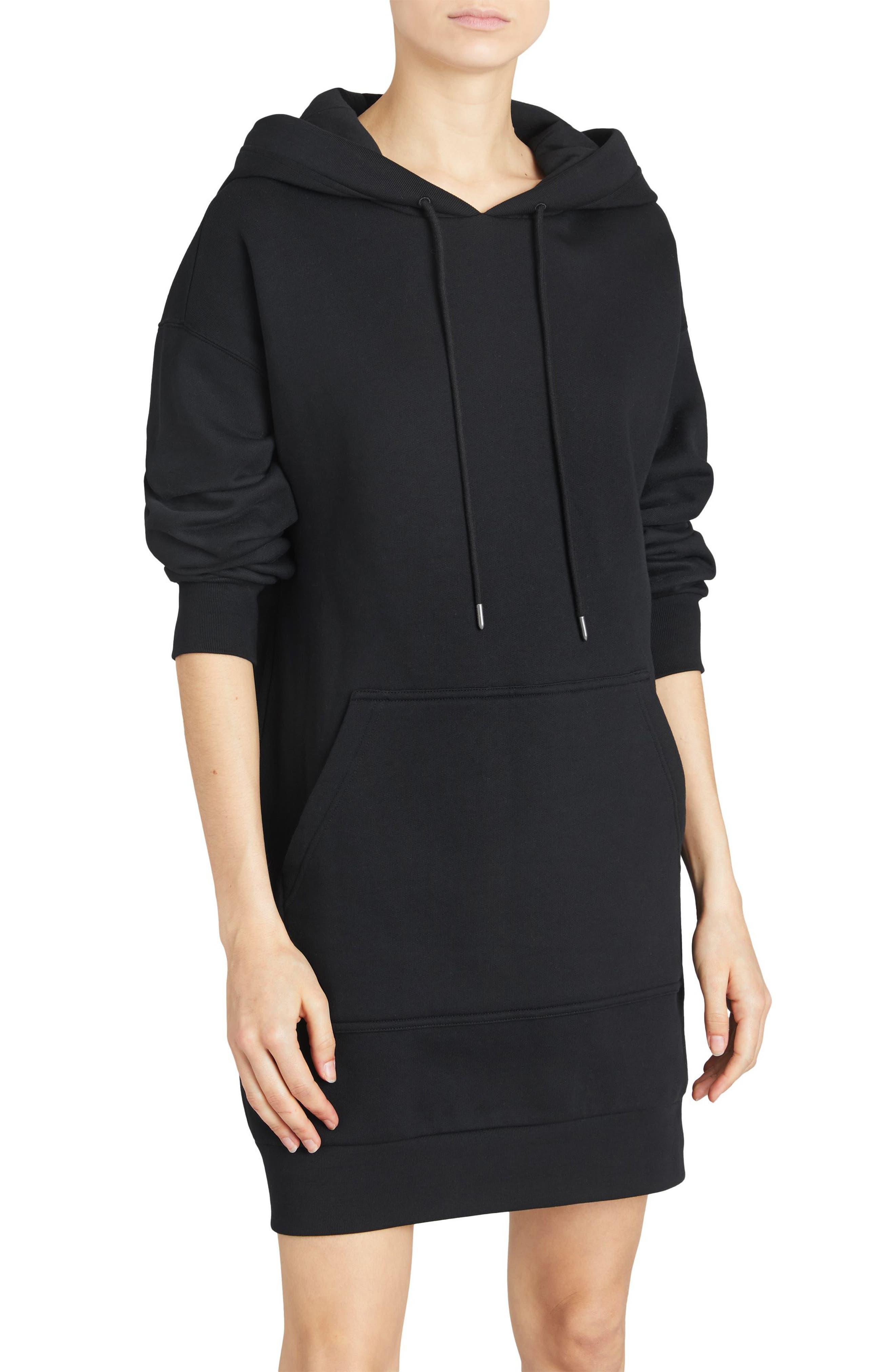 Cardeiver Jersey Sweatshirt Dress,                             Main thumbnail 1, color,                             001