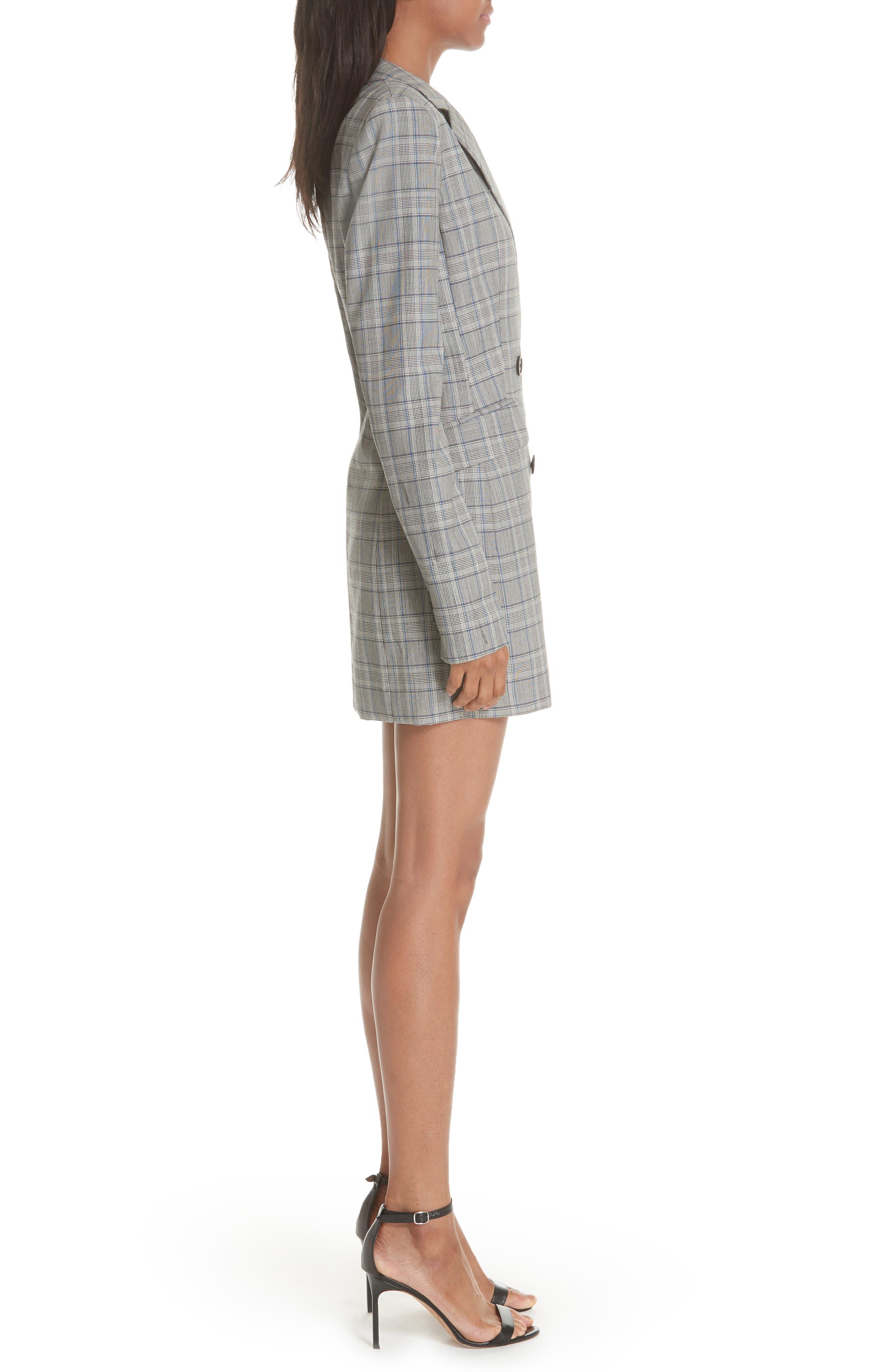 Cotton Suiting Blazer Dress,                             Alternate thumbnail 3, color,                             087