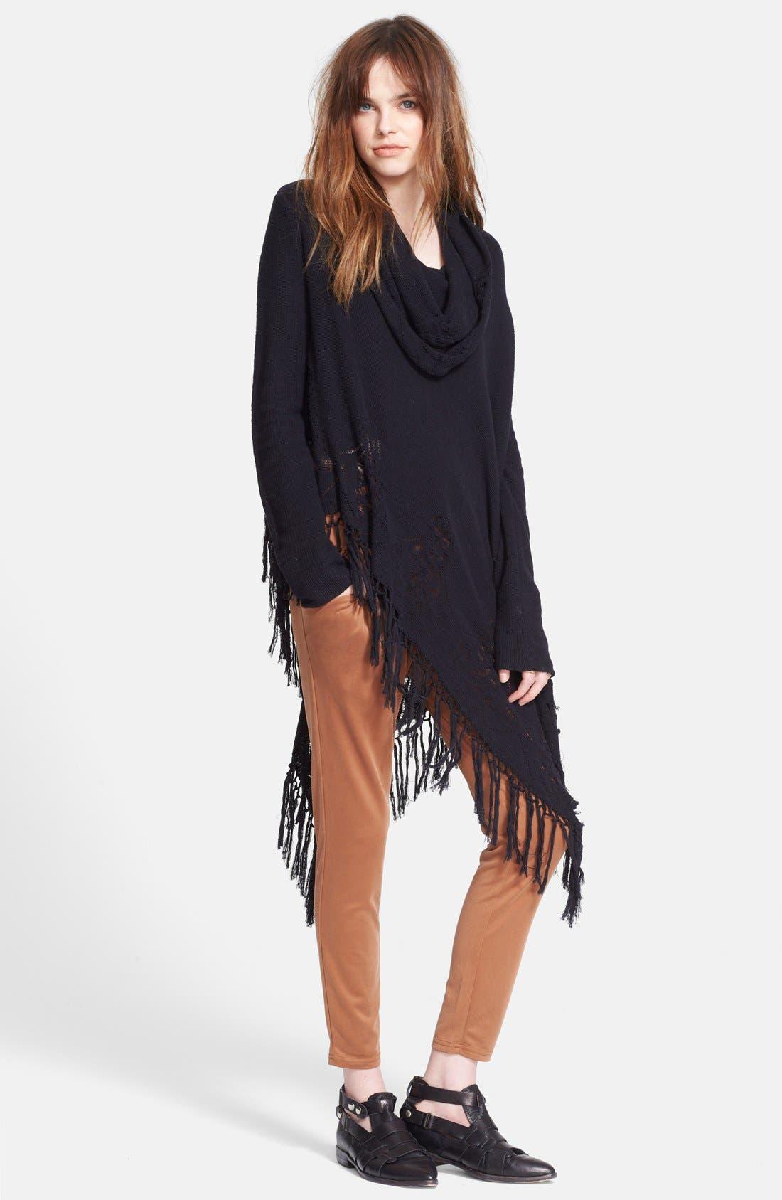 'Temptress' Drapey Cowl Sweater, Main, color, 001
