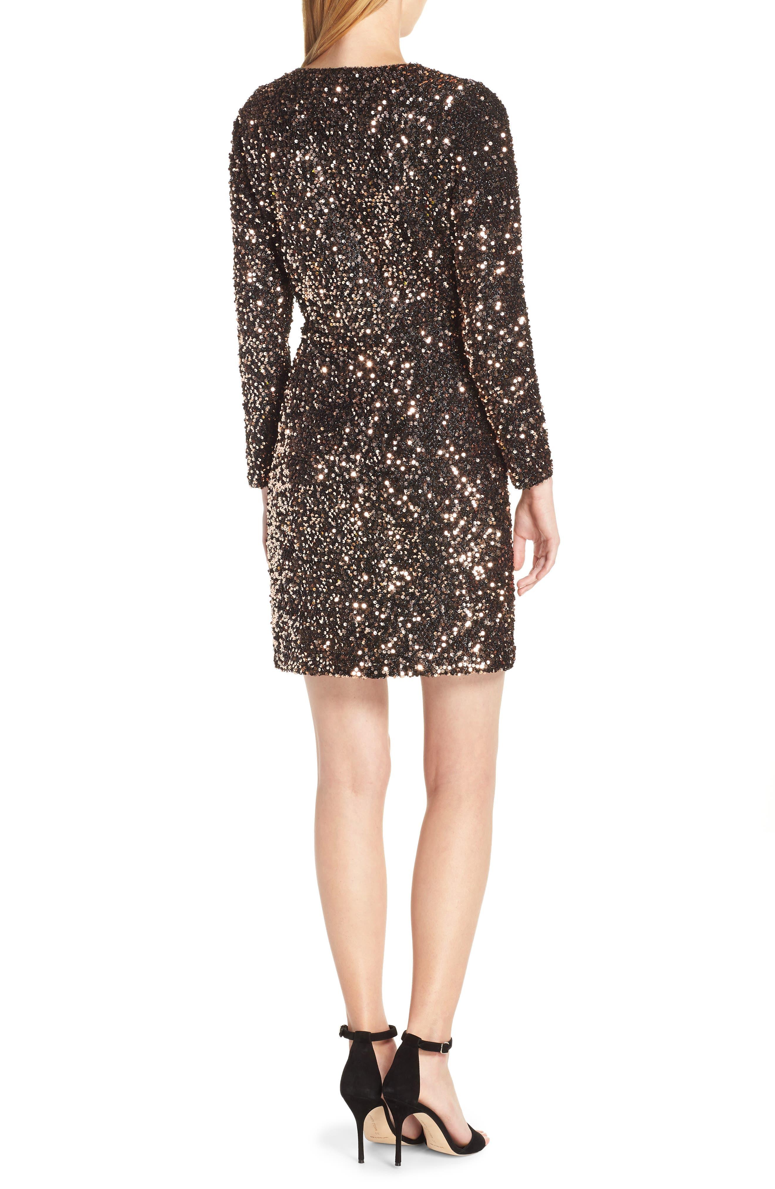 Sequin Sheath Dress,                             Alternate thumbnail 2, color,                             BRONZE