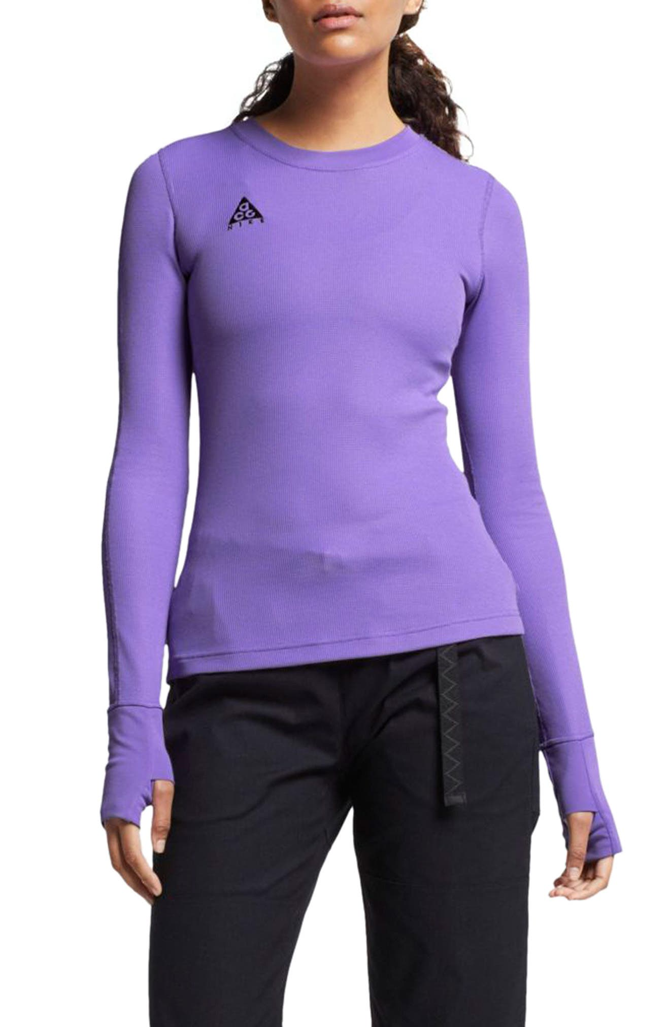 NIKE ACG Women's Waffle Top, Main, color, ATOMIC VIOLET
