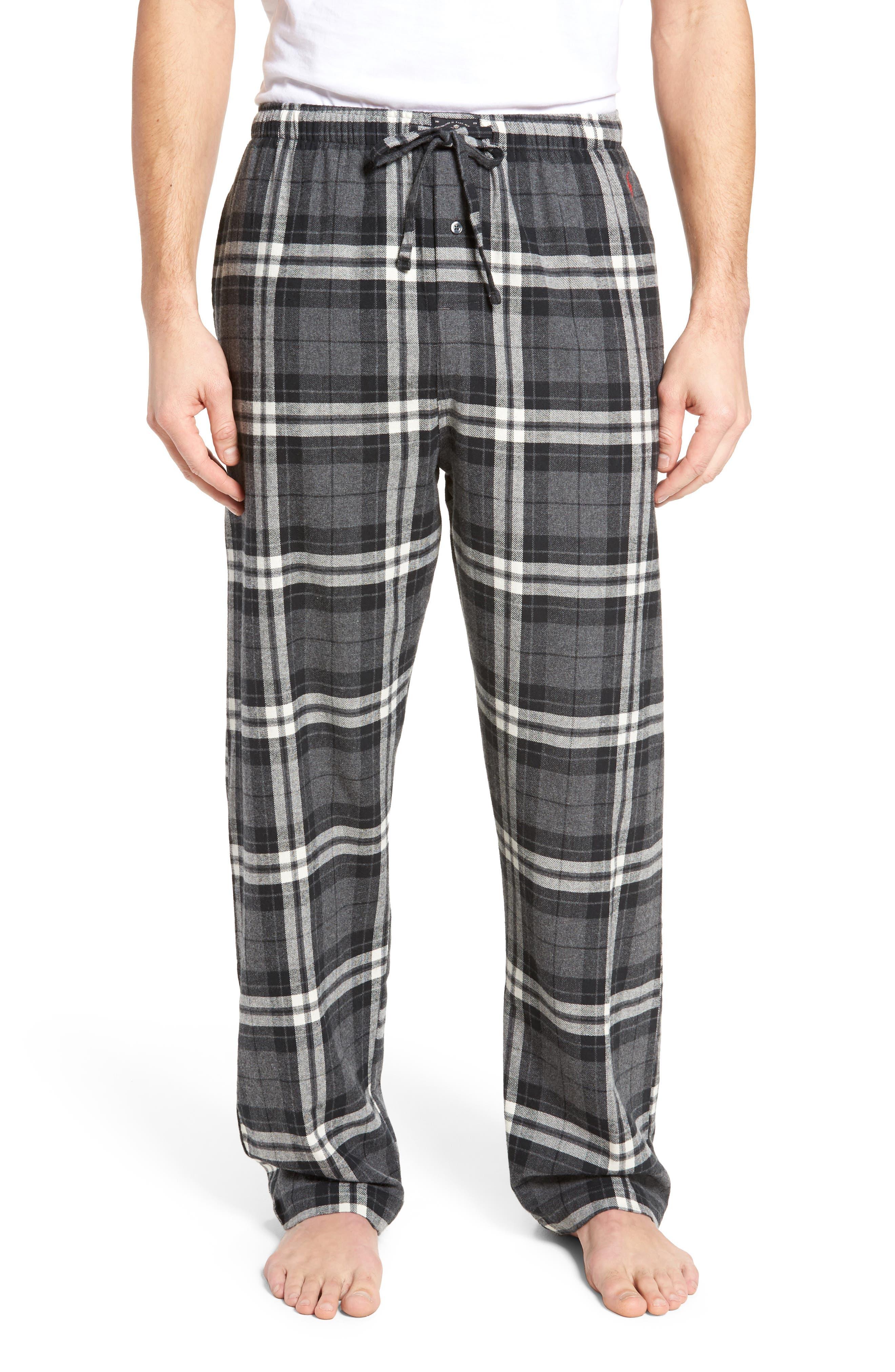 Flannel Pajama Pants,                             Main thumbnail 4, color,